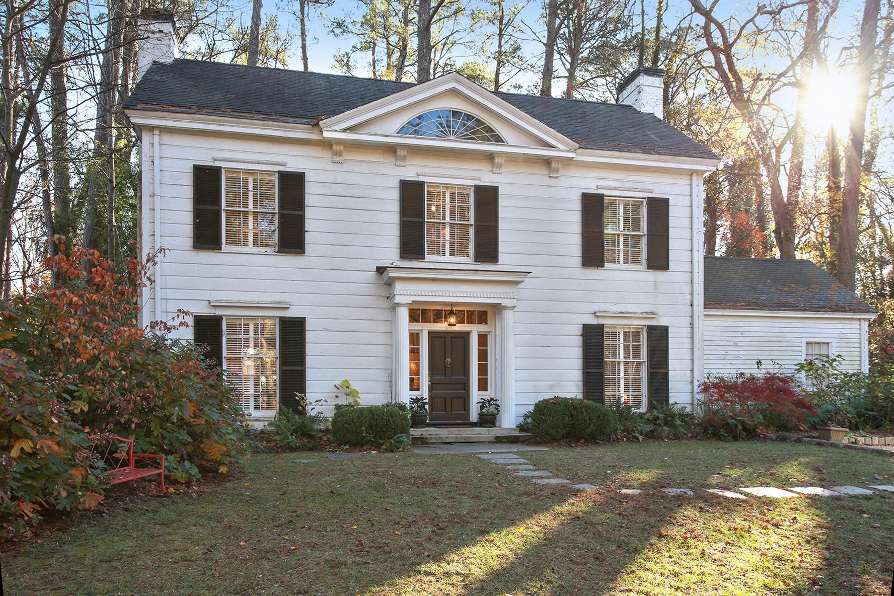 단독 가정 주택 용 매매 에 Beautiful Greek Revival Home In Buckhead 504 West Wesley Atlanta, 조지아, 30305 미국
