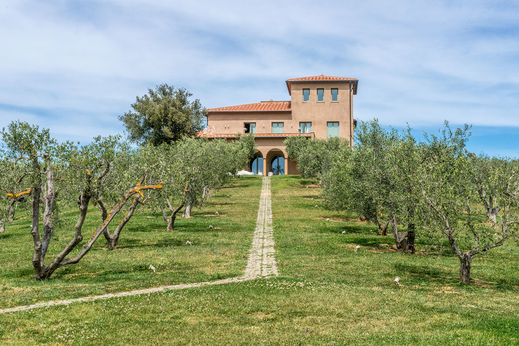 Additional photo for property listing at Unique luxury contemporary villa in an olive grove estate Massa Marittima, Grosseto Italy