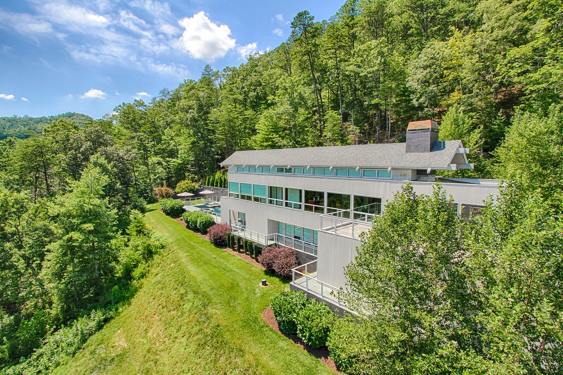 Single Family Home for Sale at Contemporary Retreat with Beautiful Mountain Views! 127 Sunshine Way Townsend, Tennessee 37882 United States