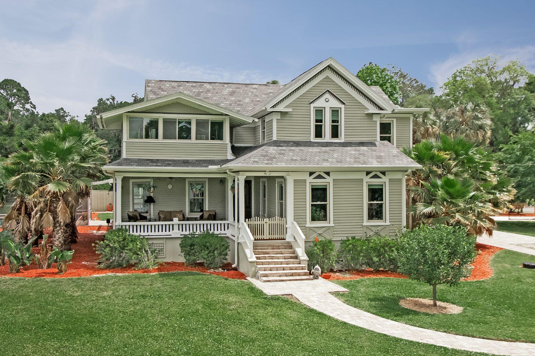 Частный односемейный дом для того Продажа на Reid House 4056 Browns Landing Rd. Palatka, Флорида, 32177 Соединенные Штаты