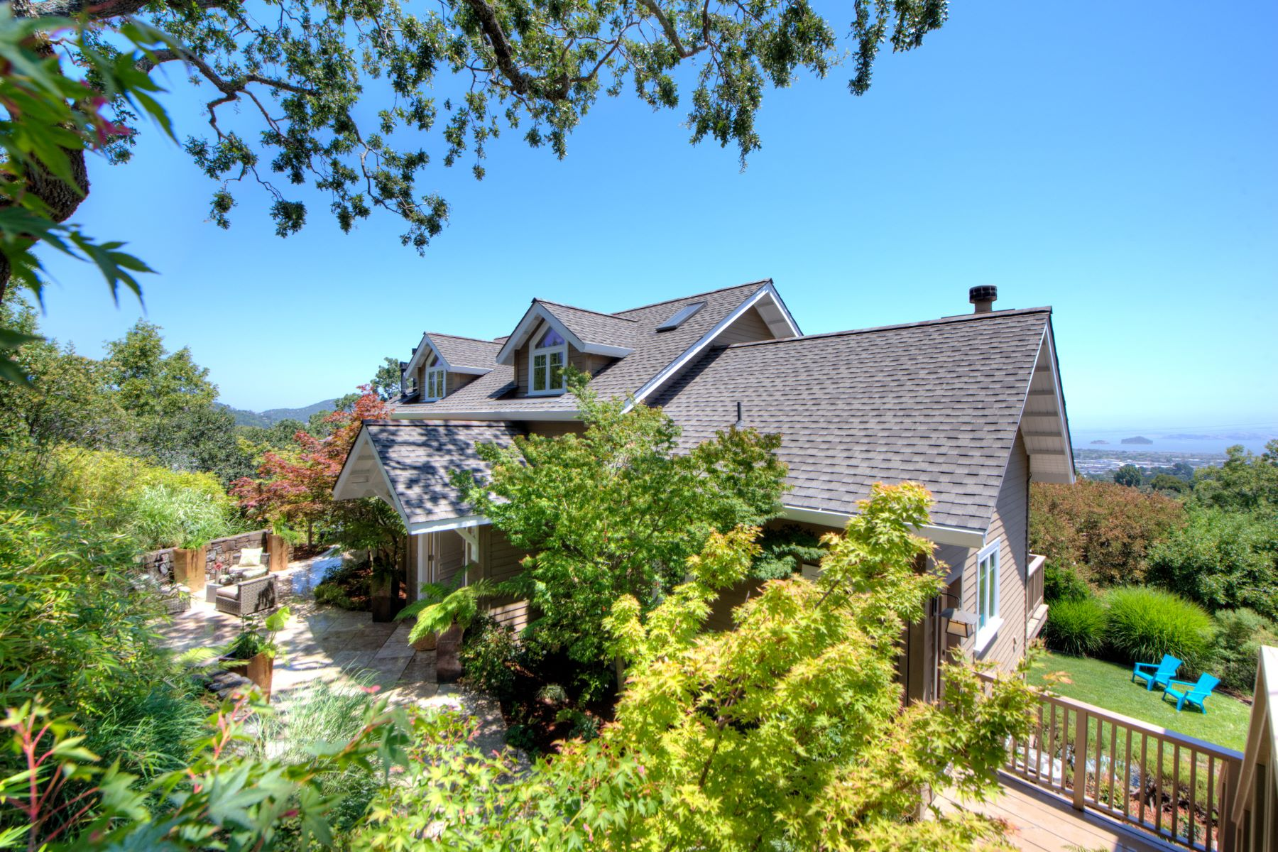 단독 가정 주택 용 매매 에 Contemporary Ridge-Top Living with Spectacular Bay Views 78 Southern Heights San Rafael, 캘리포니아, 94901 미국