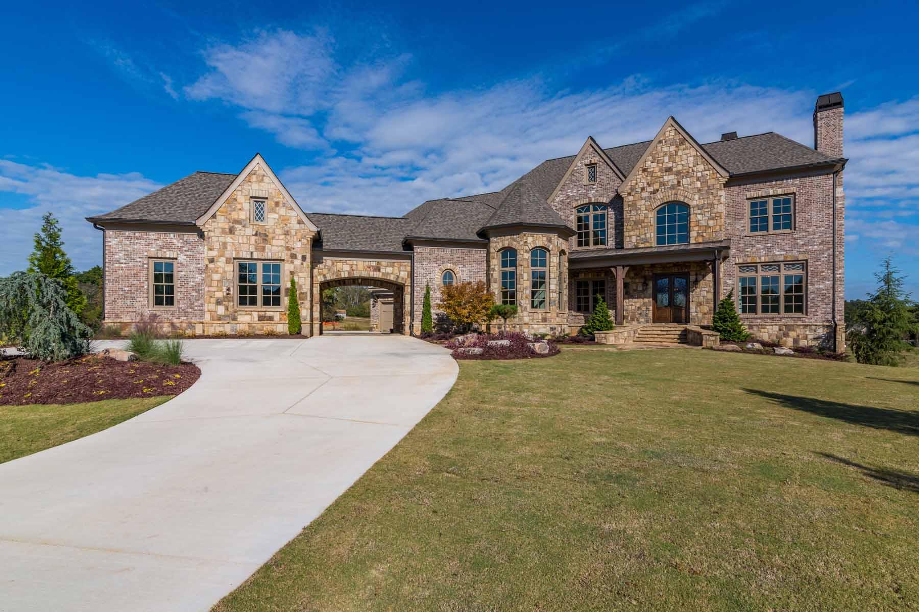 Tek Ailelik Ev için Satış at Custom Luxury in Milton 10150 Cedar Ridge Drive Milton, Georgia, 30004 Amerika Birleşik Devletleri