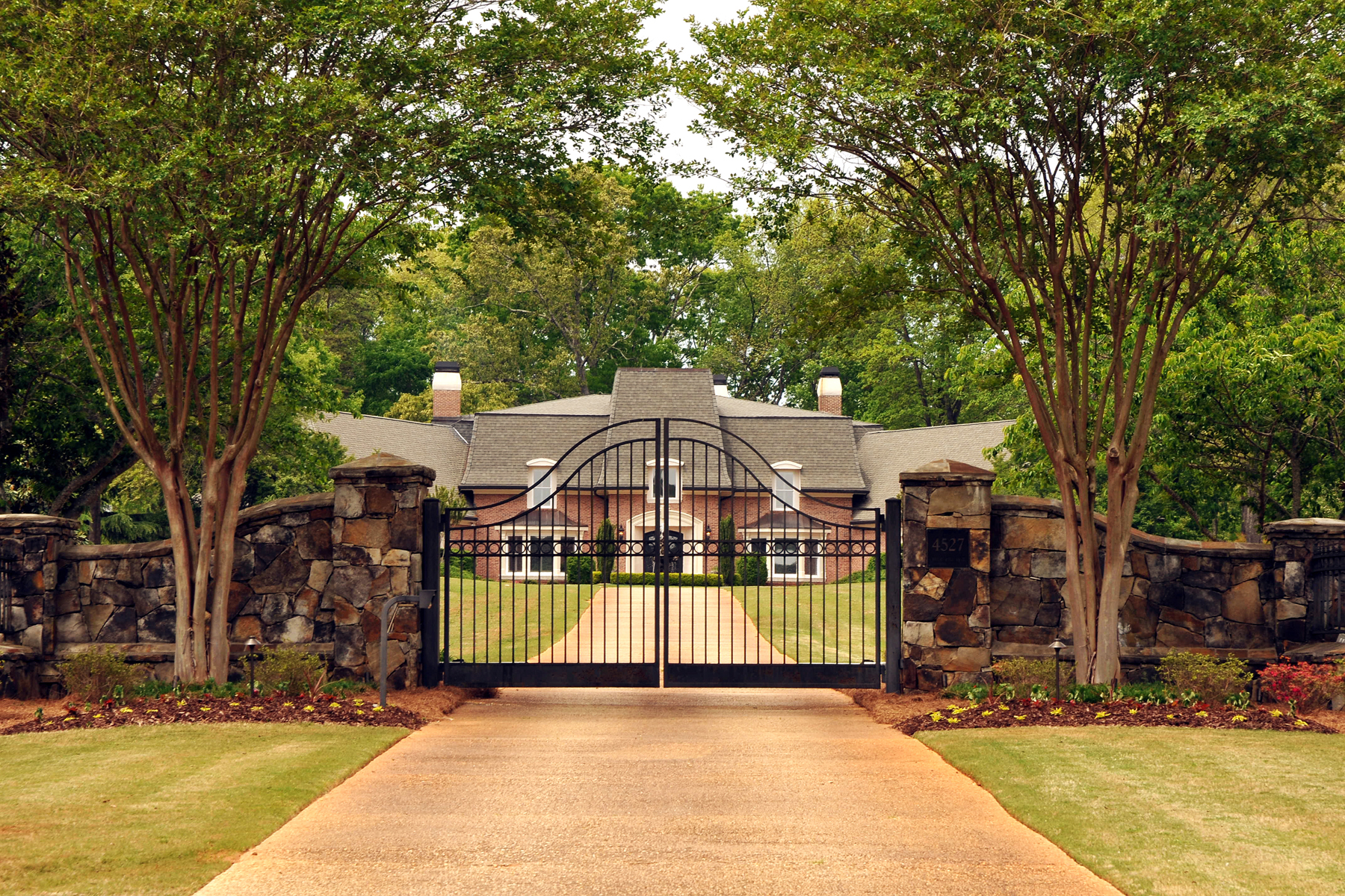 Single Family Home for Active at Glorious European Estate In Gwinnett County 4527 Shiloh Ridge Trail Snellville, Georgia 30039 United States