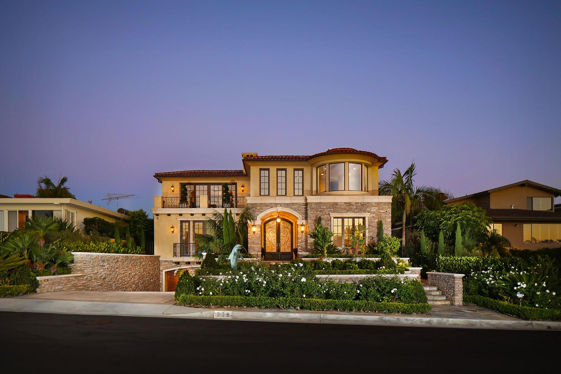 獨棟家庭住宅 為 出售 在 238 Evening Canyon Corona Del Mar, 加利福尼亞州, 92625 美國