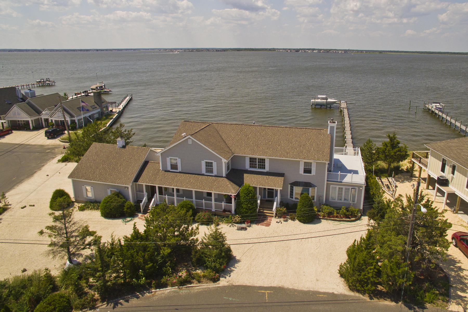 独户住宅 为 销售 在 Largest Bayfront in Normandy Beach! 497 Normandy Drive 诺曼底海滩, 新泽西州 08739 美国