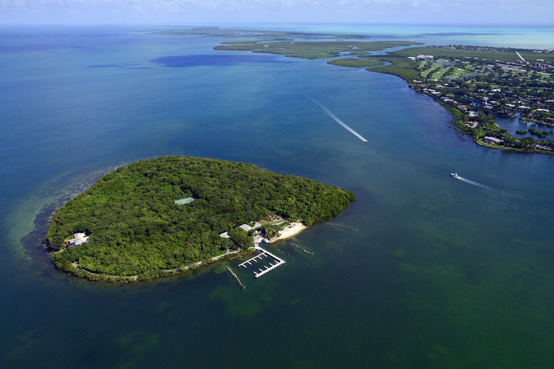 개인 섬 용 매매 에 Pumpkin Key - Private Island in the Florida Keys Ocean Reef Community, Key Largo, 플로리다, 33037 미국