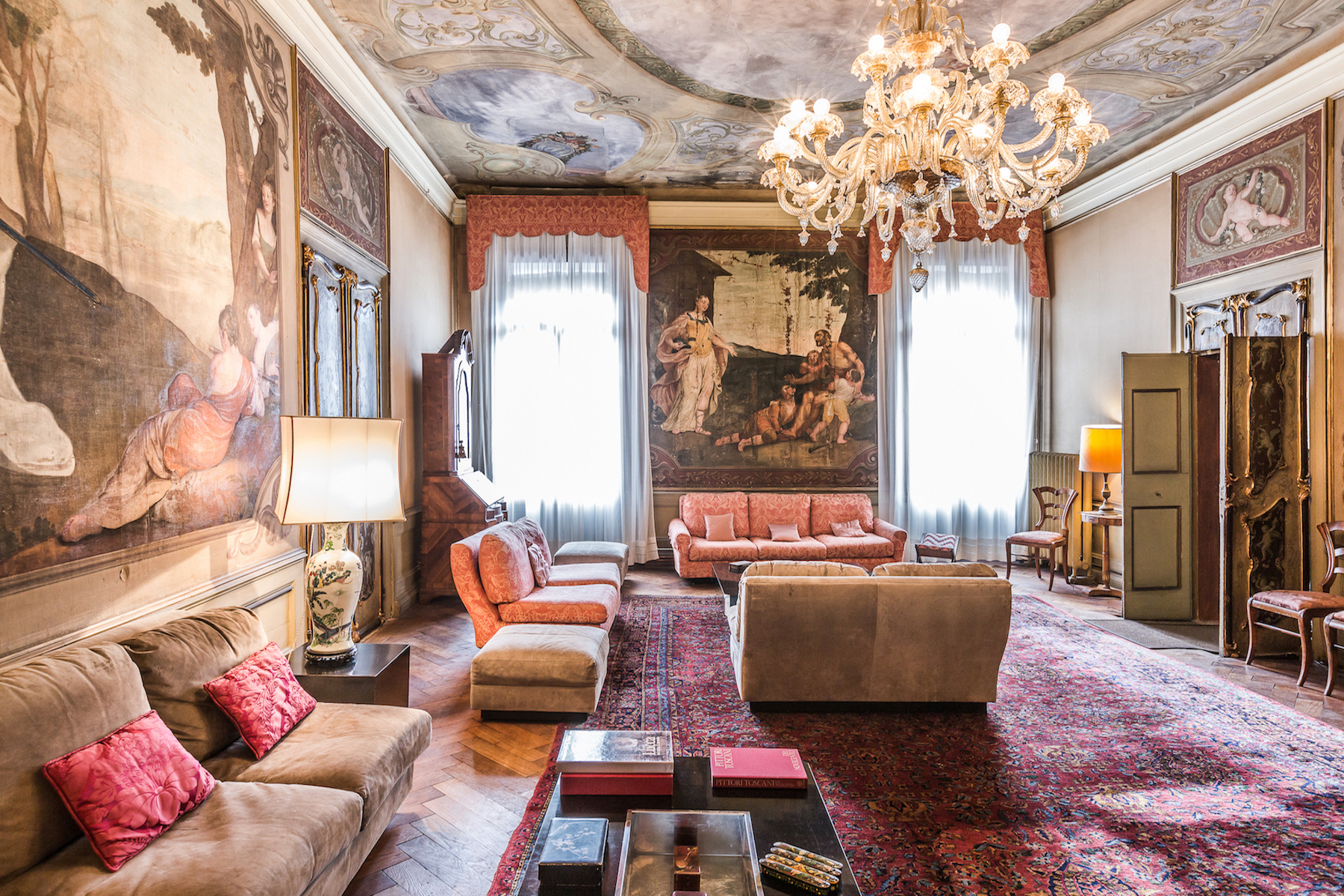 Additional photo for property listing at Stunning palazzo apartment Campo Santo Stefano with two terraces Venice, Venice Italia