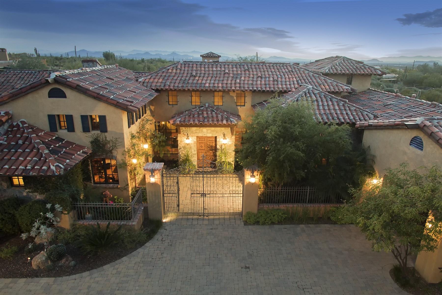 Einfamilienhaus für Verkauf beim Elegant European-style estate 28094 N 96th Pl Scottsdale, Arizona, 85262 Vereinigte Staaten