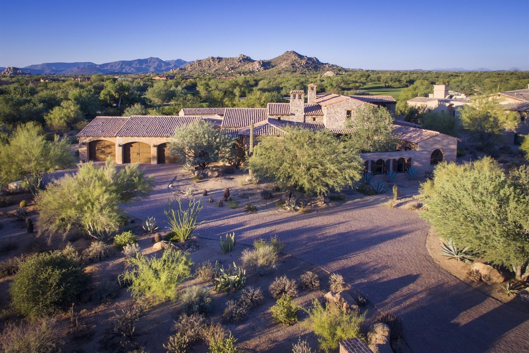 Einfamilienhaus für Verkauf beim Authentic Mediterranean on the renowned Whisper Rock Lower Golf Course 7326 E Sonoran Trl Scottsdale, Arizona, 85266 Vereinigte Staaten