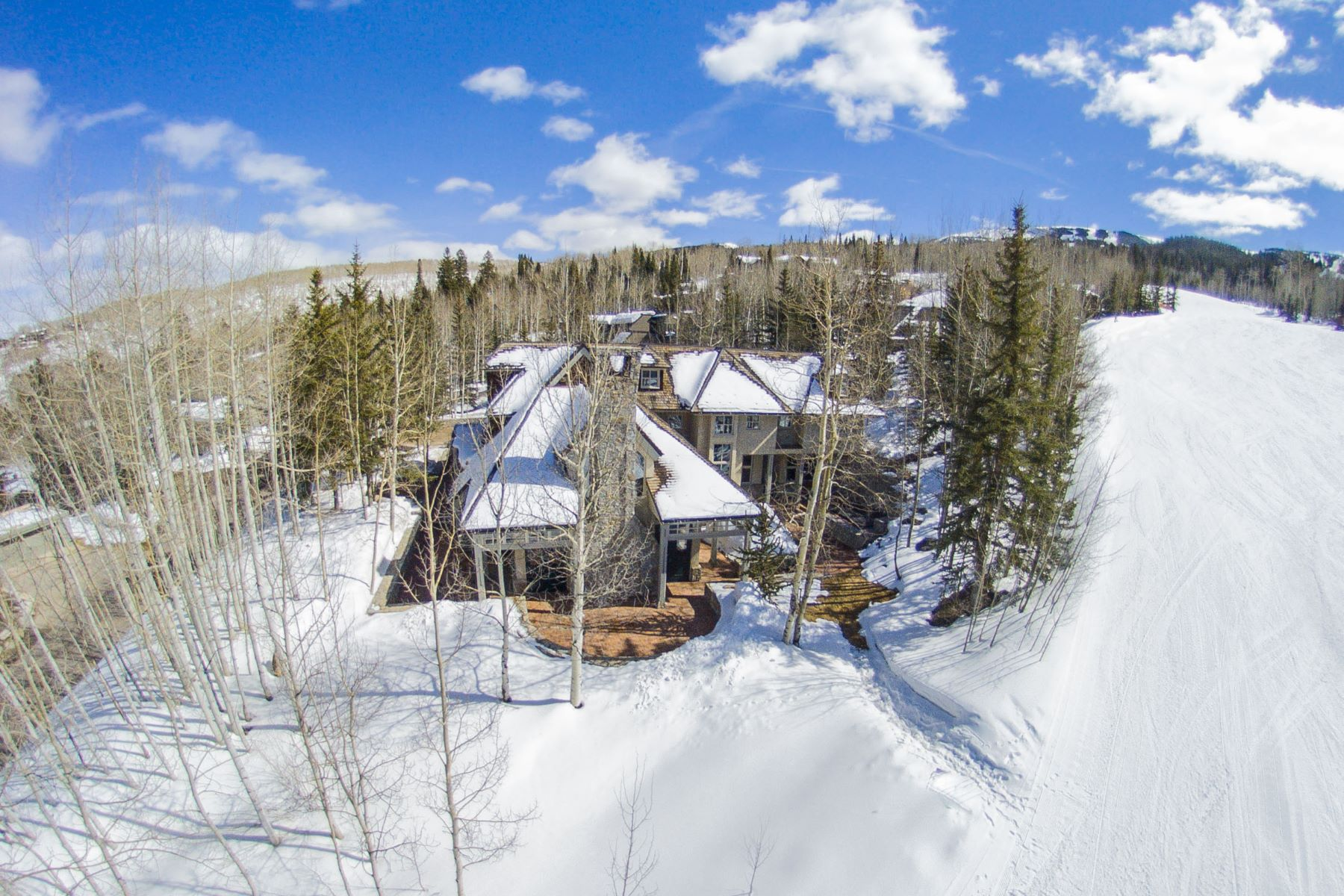 Single Family Home for Sale at Beautiful Stone and Stucco Residence 1061 Wood Road Snowmass Village, Colorado, 81615 United States