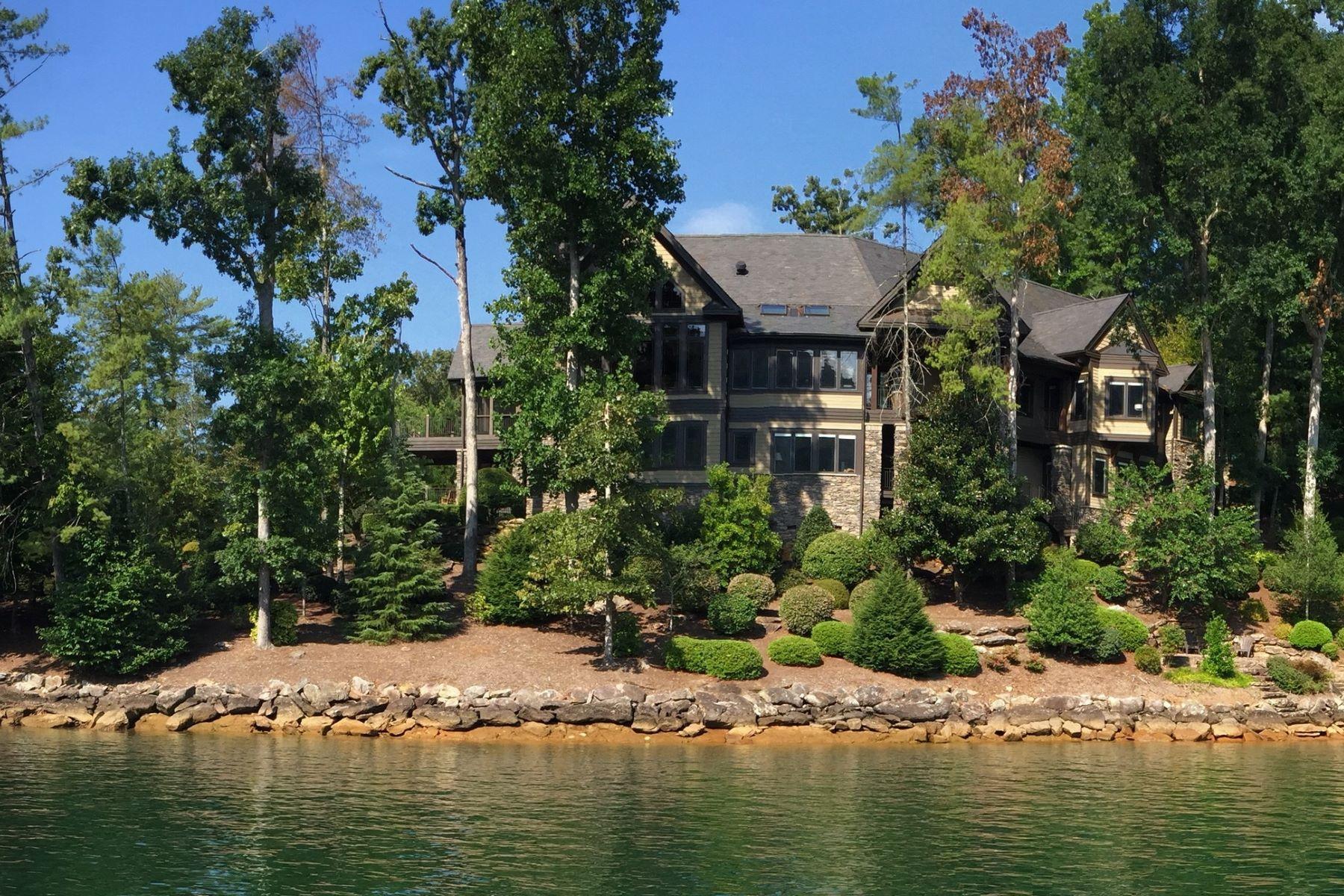 Einfamilienhaus für Verkauf beim Outstanding Lakeside Retreat With Breathtaking Views From a Superb Peninsula 107 Nine Bark Way The Cliffs At Keowee Vineyards, Sunset, South Carolina, 29685 Vereinigte Staaten