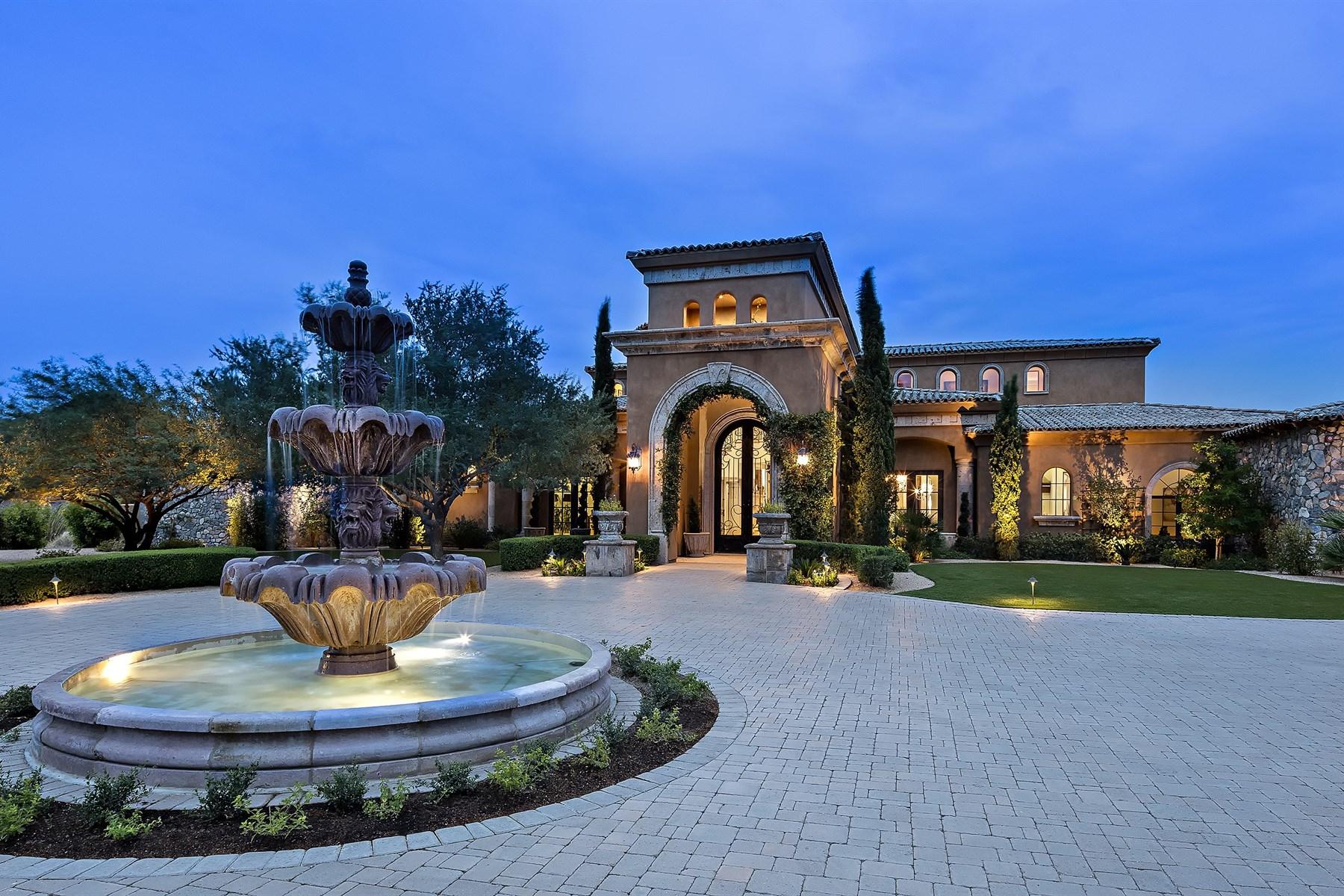 Einfamilienhaus für Verkauf beim Exquisite Mediterranean Home with Scottsdale Views 23012 N Via Ventosa Scottsdale, Arizona, 85255 Vereinigte Staaten