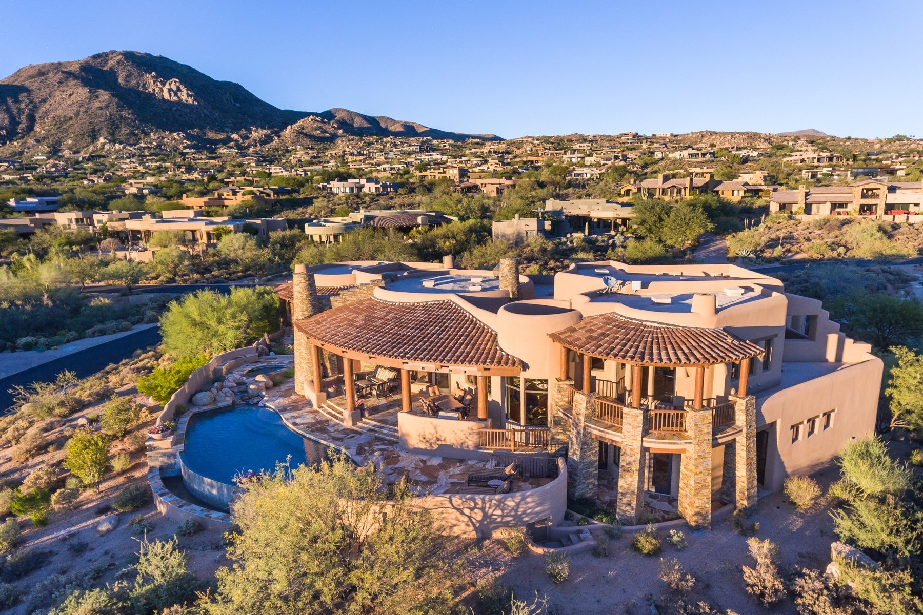 Single Family Home for Sale at Exceptional custom home on spectacular lot 11105 E Tamarisk Way Scottsdale, Arizona, 85262 United States