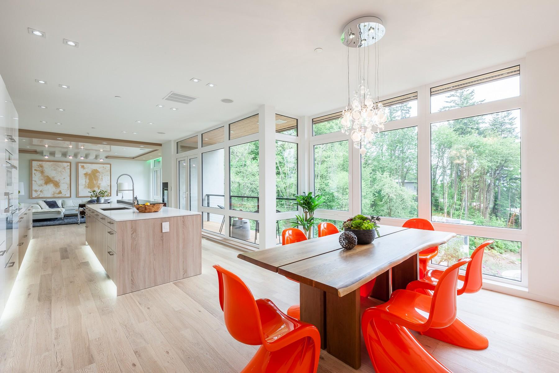 Single Family Home for Sale at Visually Distinct Modern 6520 NE 129th St Kirkland, Washington 98034 United States