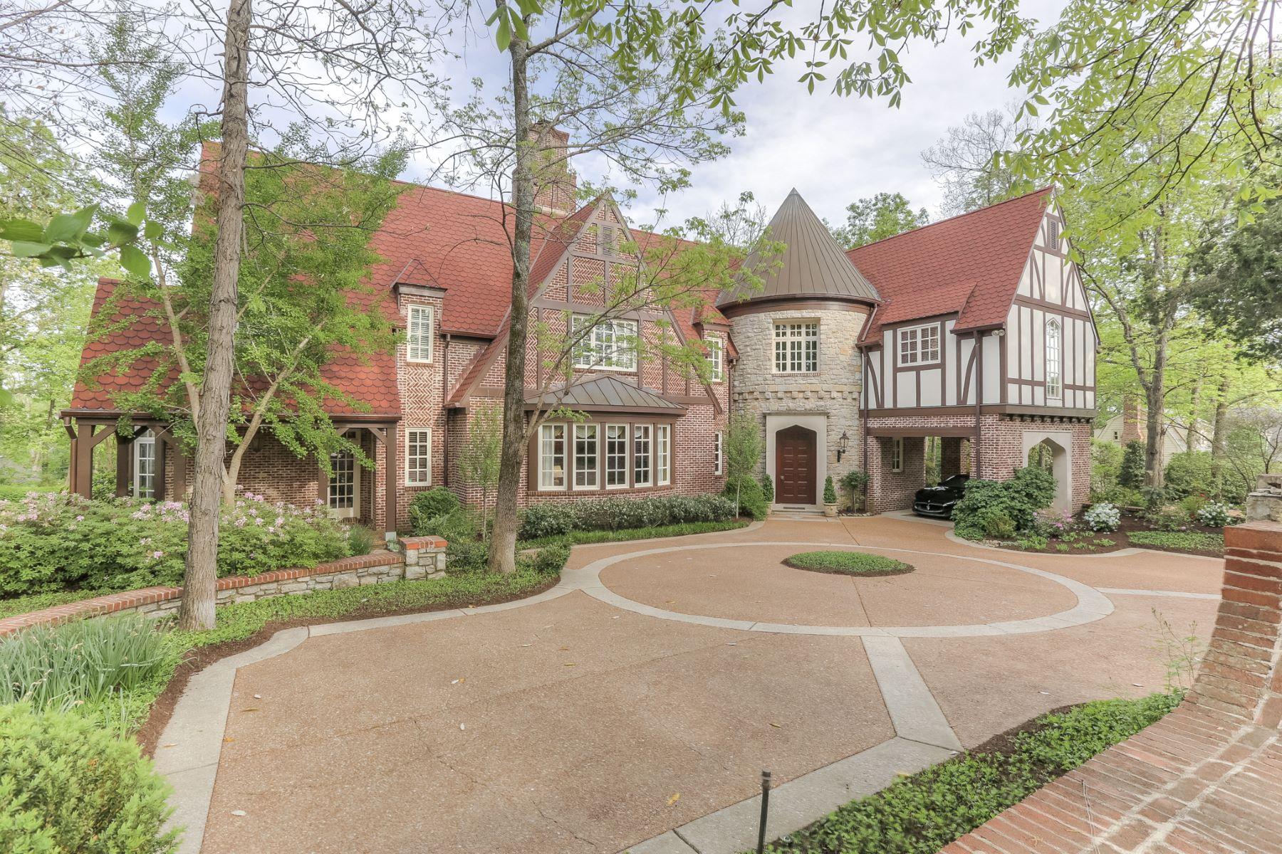 Частный односемейный дом для того Продажа на Beautiful English Tudor 624 Westview Avenue Nashville, Теннесси, 37205 Соединенные Штаты
