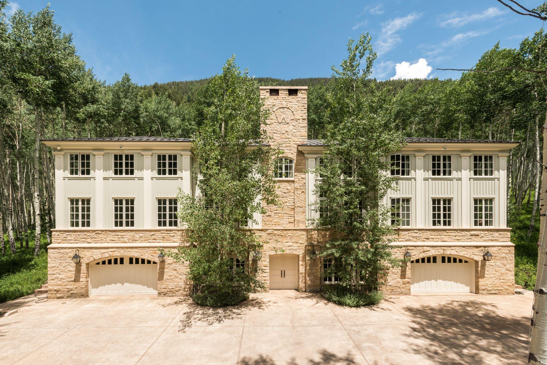 Частный односемейный дом для того Продажа на Mountain Classic 11 Fall Creek Road Aspen, Колорадо, 81611 Соединенные Штаты