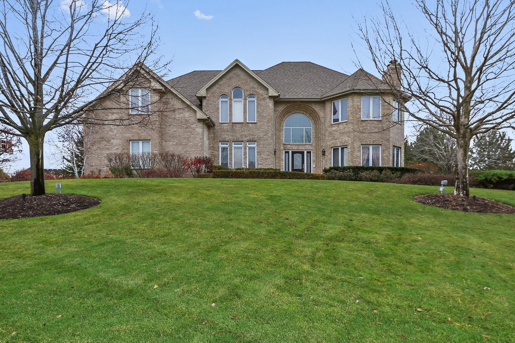 Casa para uma família para Venda às Fabulous Location Sited High Looking Down The Waterway 21556 W Swan Court Kildeer, Illinois, 60047 Estados Unidos