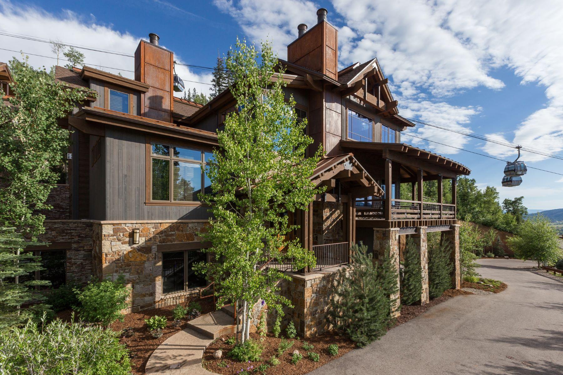 Maison en rangée pour l Vente à Luxury Under the Gondola 2542 Ski Trail Lane Steamboat Springs, Colorado, 80487 États-Unis