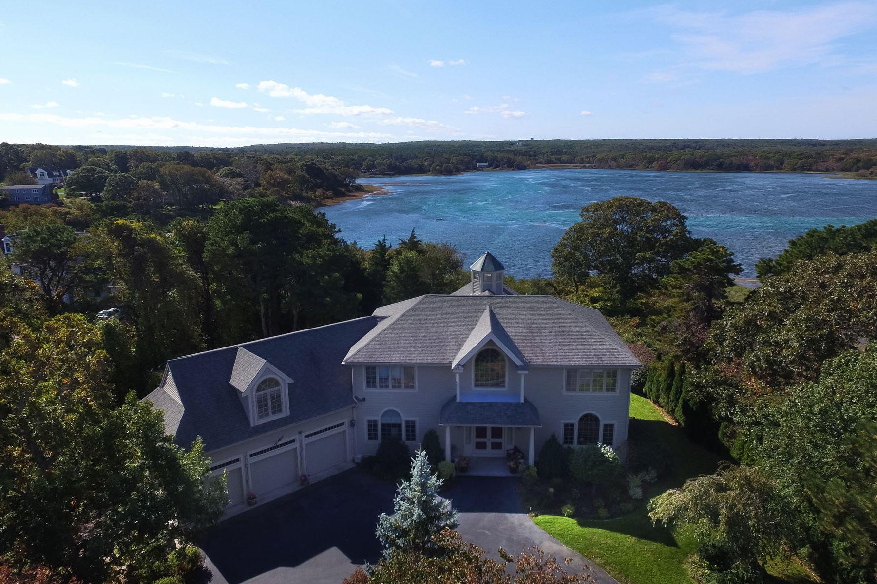 Maison unifamiliale pour l Vente à PALATIAL HOME OVERLOOKING SCORTON CREEK 34 Goose Point Lane East Sandwich, Massachusetts, 02537 États-Unis