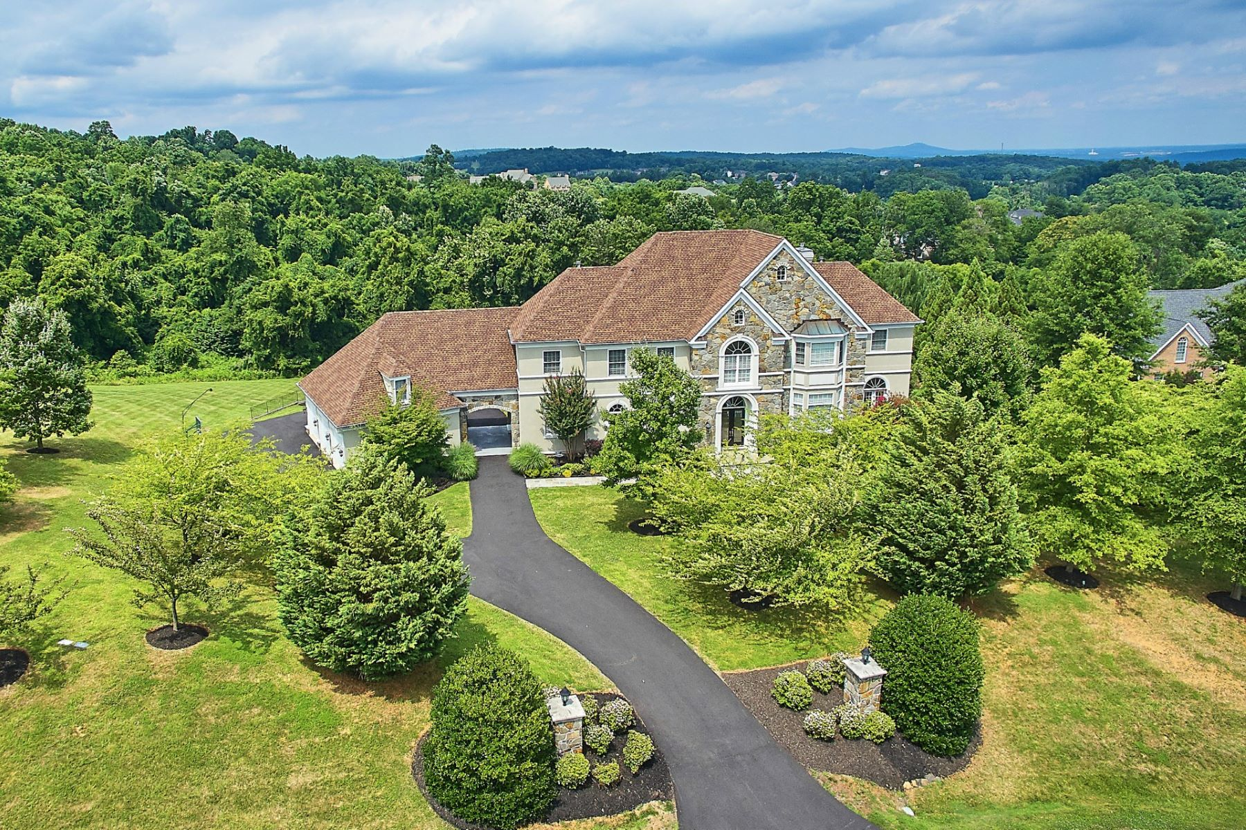 Single Family Home for Sale at Elegant French Country Estate 17170 Bold Venture Drive Leesburg, Virginia, 20176 United States