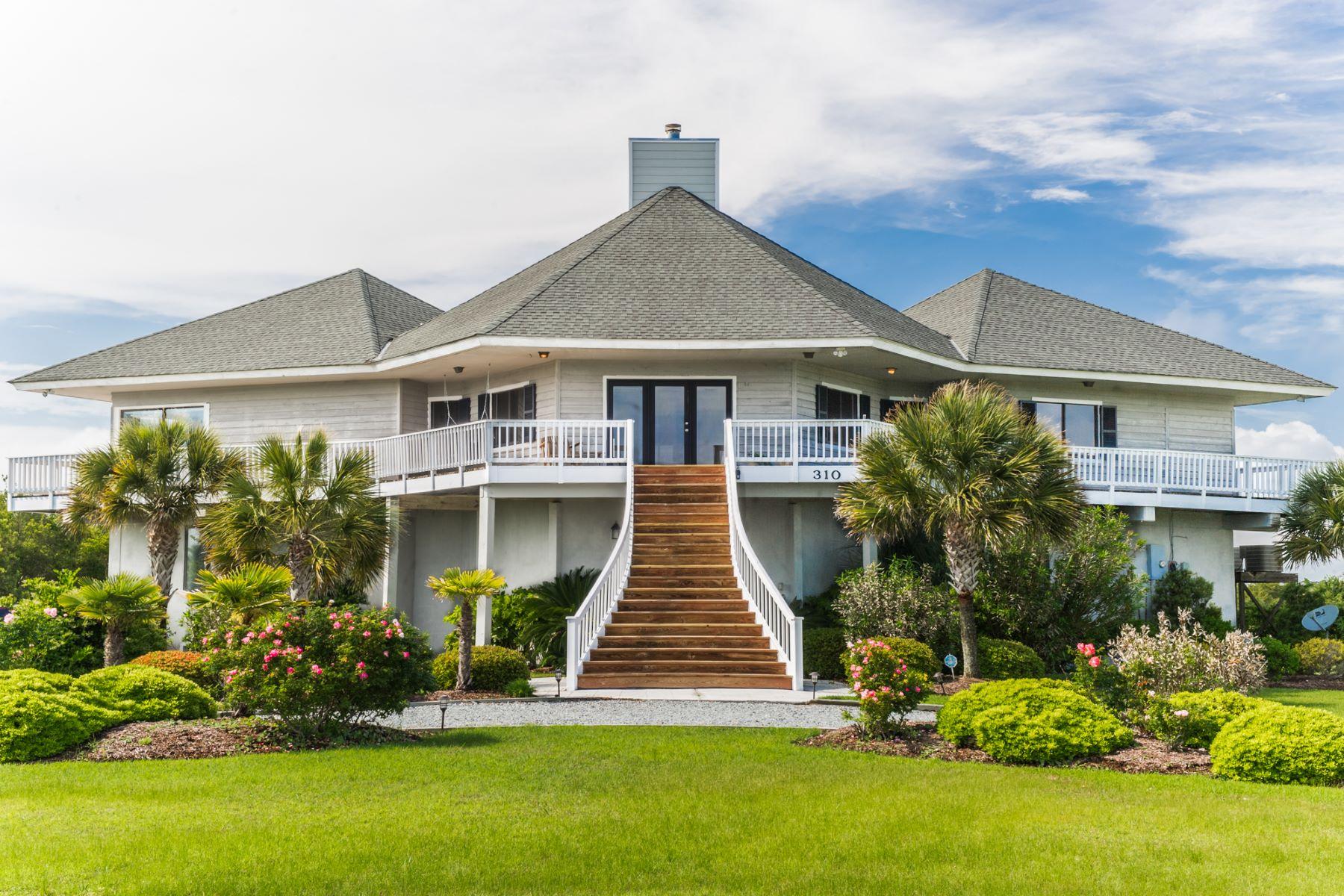 Maison unifamiliale pour l Vente à Contemporary Waterfront Elegance 310 Waterway Dr Sneads Ferry, Carolina Du Nord, 28460 États-Unis