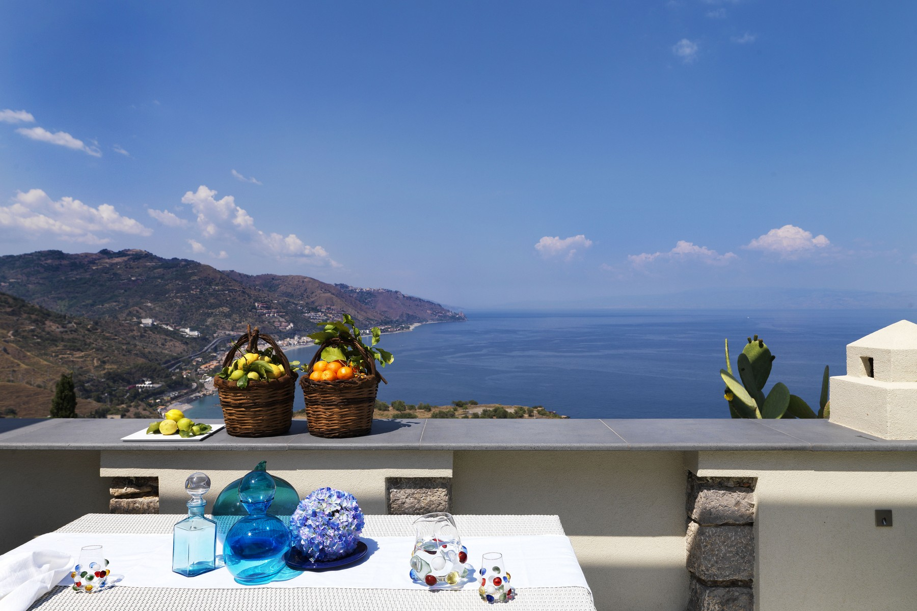 Single Family Home for Sale at Dream villa on the sea in Taormina Taormina, Messina Italy