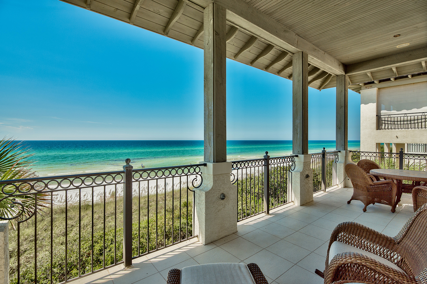 Single Family Home for Sale at LUXURIOUS GULF FRONT MEDITERRANEAN RETREAT IN UPSCALE VIZCAYA 1025 Vizcaya Drive Santa Rosa Beach, Florida, 32459 United States