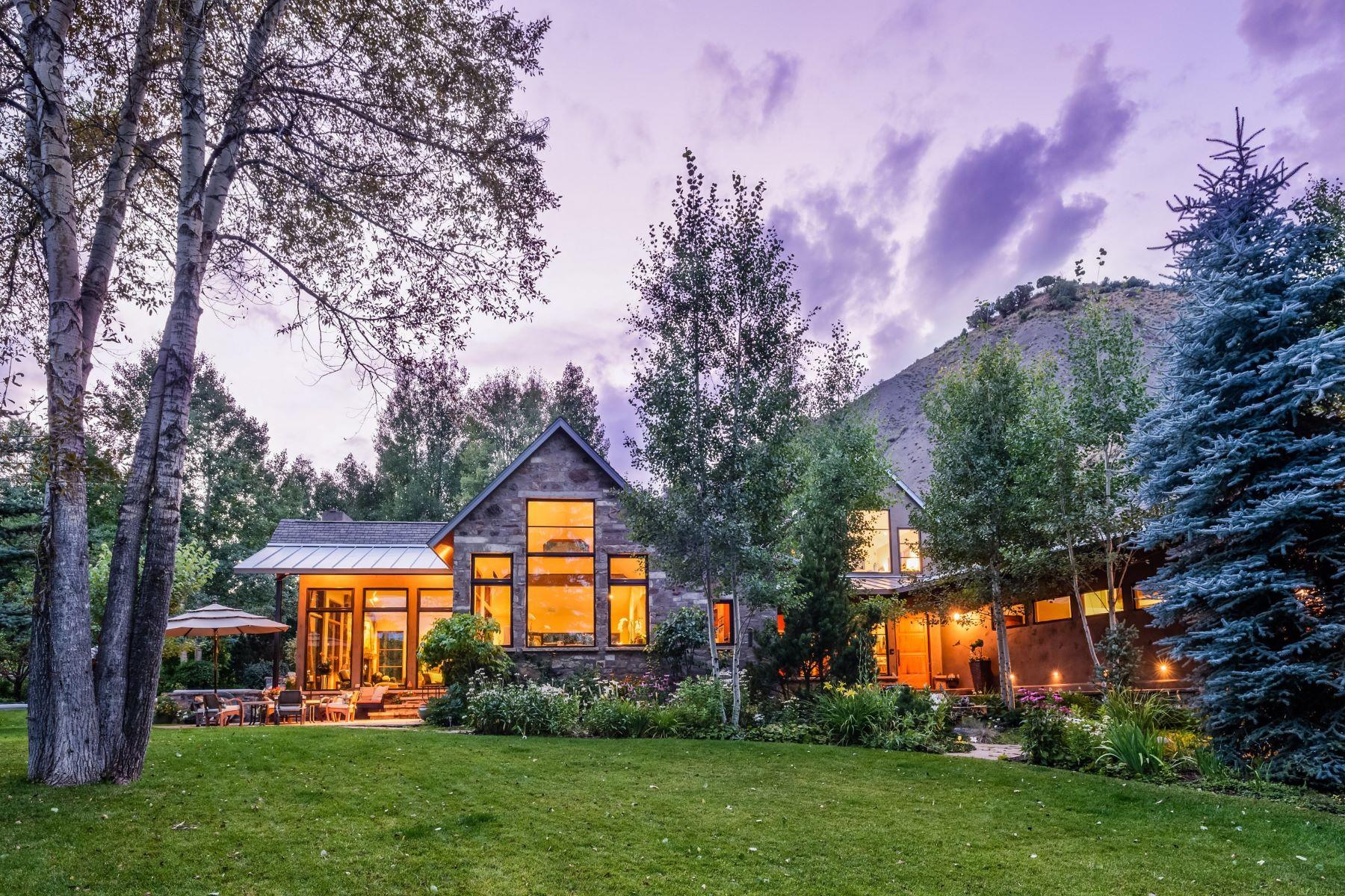 一戸建て のために 売買 アット Peaceful Riverfront Setting 1765 Snowmass Creek Road Snowmass, コロラド, 81654 アメリカ合衆国