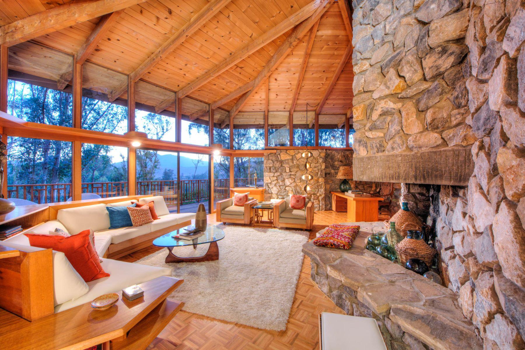 واحد منزل الأسرة للـ Sale في Mid-Century Modern Masterpiece on 4+ Acres 215 Locust Avenue San Rafael, California 94901 United States