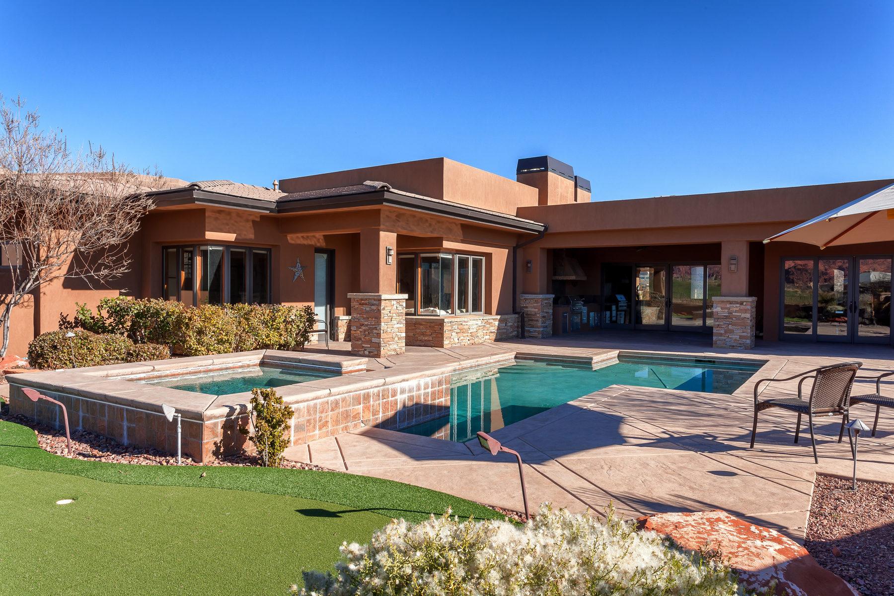 Maison unifamiliale pour l Vente à Golf Course Living at its Best 2080 W Rising Sun Dr St. George, Utah, 84770 États-Unis