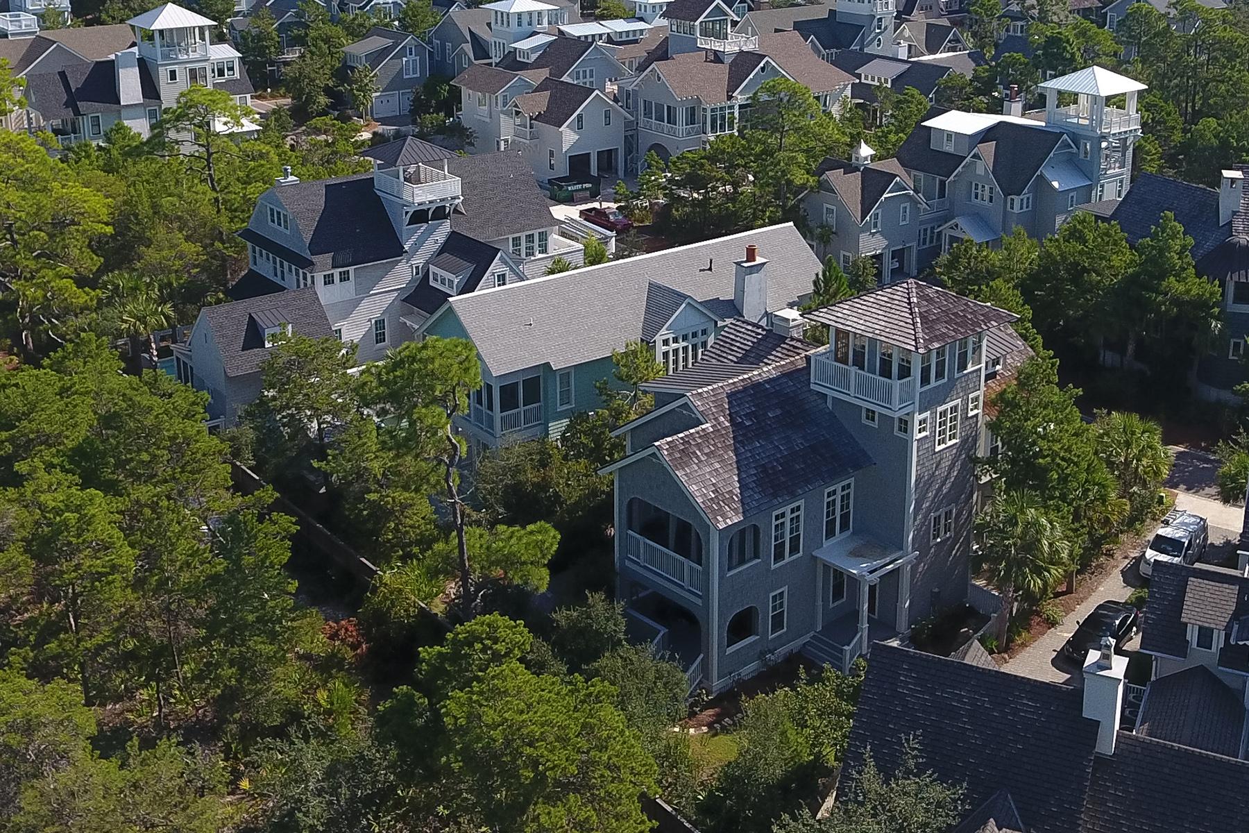 Частный односемейный дом для того Продажа на BEAUTIFULLY DECORATED BORDERING TRANQUIL STATE PAR 148 Coopersmith Lane Watersound, Watersound, Флорида, 32461 Соединенные Штаты