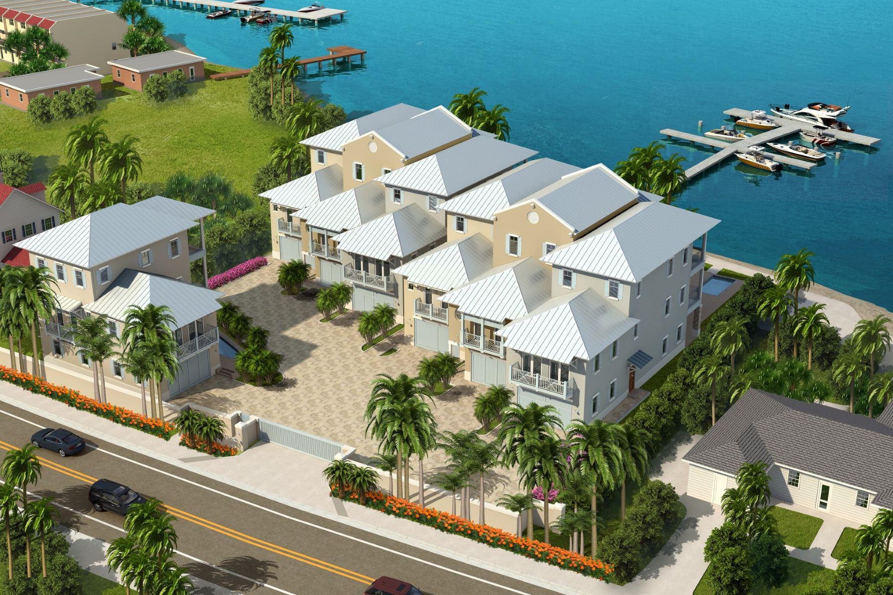 Таунхаус для того Продажа на Riverfront Ultra-luxury townhome 1502 Seaway Drive #1 Hutchinson Island, Флорида 34949 Соединенные Штаты