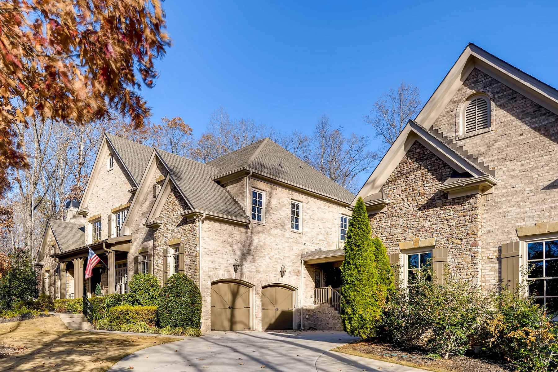 Maison unifamiliale pour l Vente à Stone and Brick Home With Open Plan 1255 Cashiers Way Roswell, Georgia, 30075 États-Unis