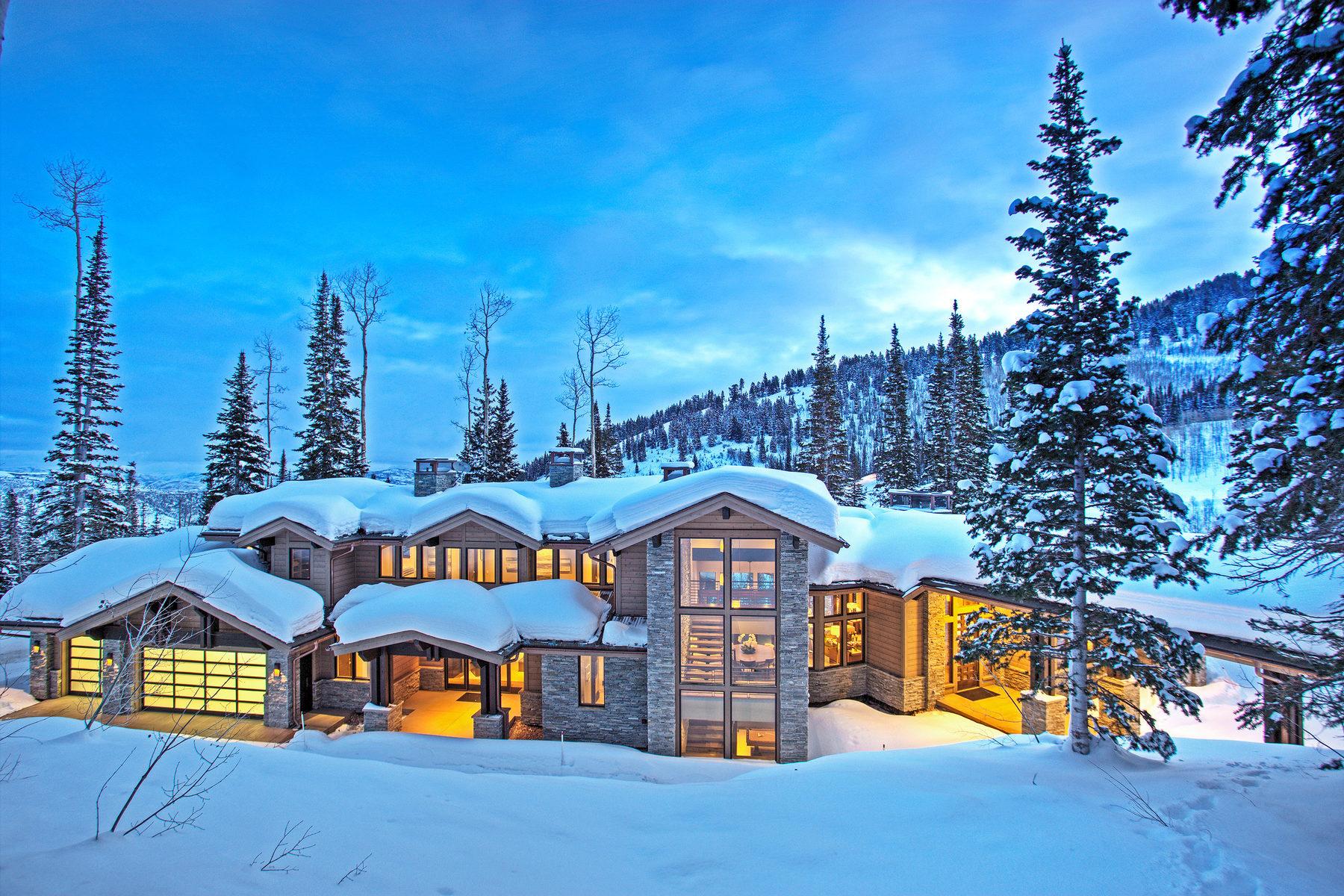 Einfamilienhaus für Verkauf beim Mountain Contemporary Masterpiece in the Colony 167 White Pine Canyon Rd Park City, Utah, 84060 Vereinigte Staaten
