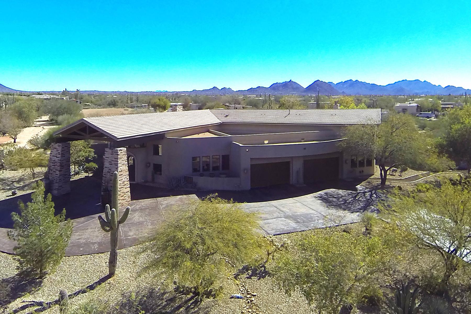 Частный односемейный дом для того Продажа на Magnificent custom home on 2.3 acres 29501 N 76th Street Scottsdale, Аризона, 85266 Соединенные Штаты