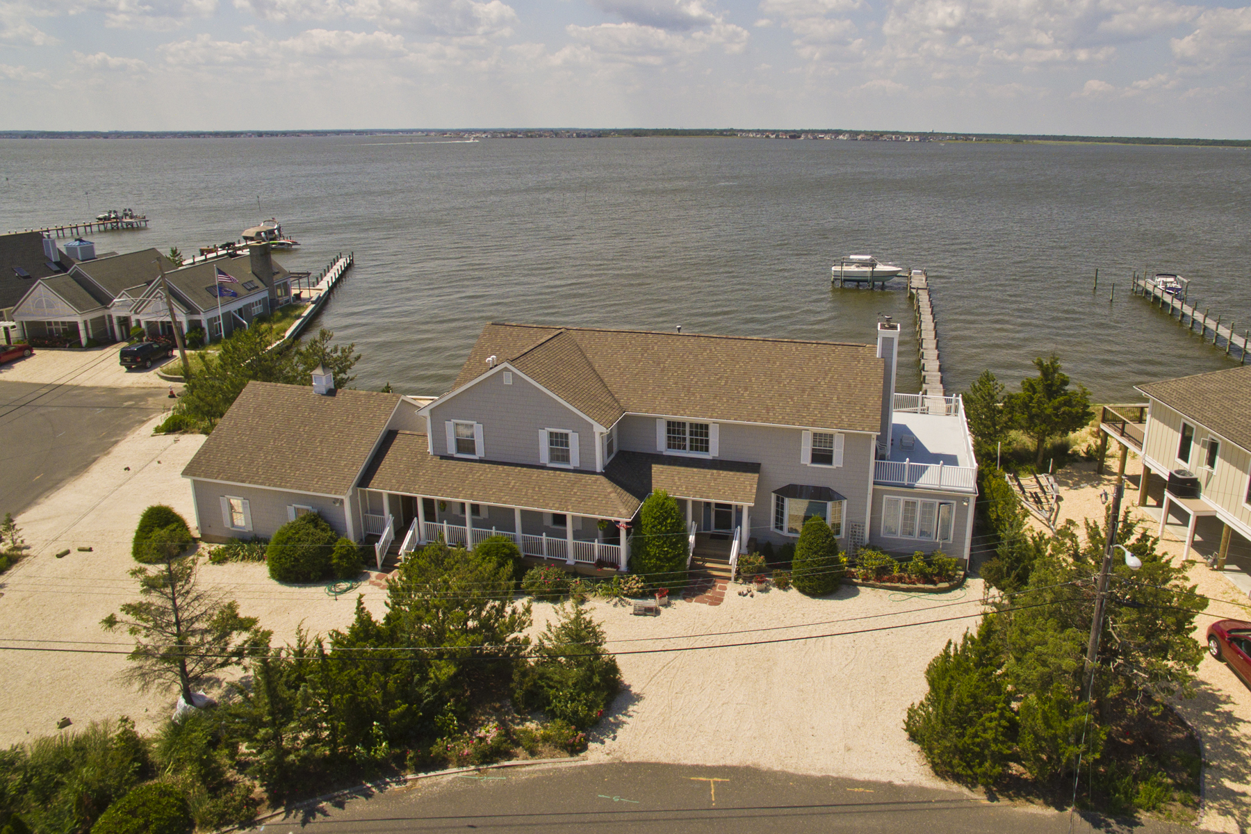 Single Family Home for Sale at Largest Bayfront in Normandy Beach! 497 Normandy Drive Normandy Beach, New Jersey 08739 United States