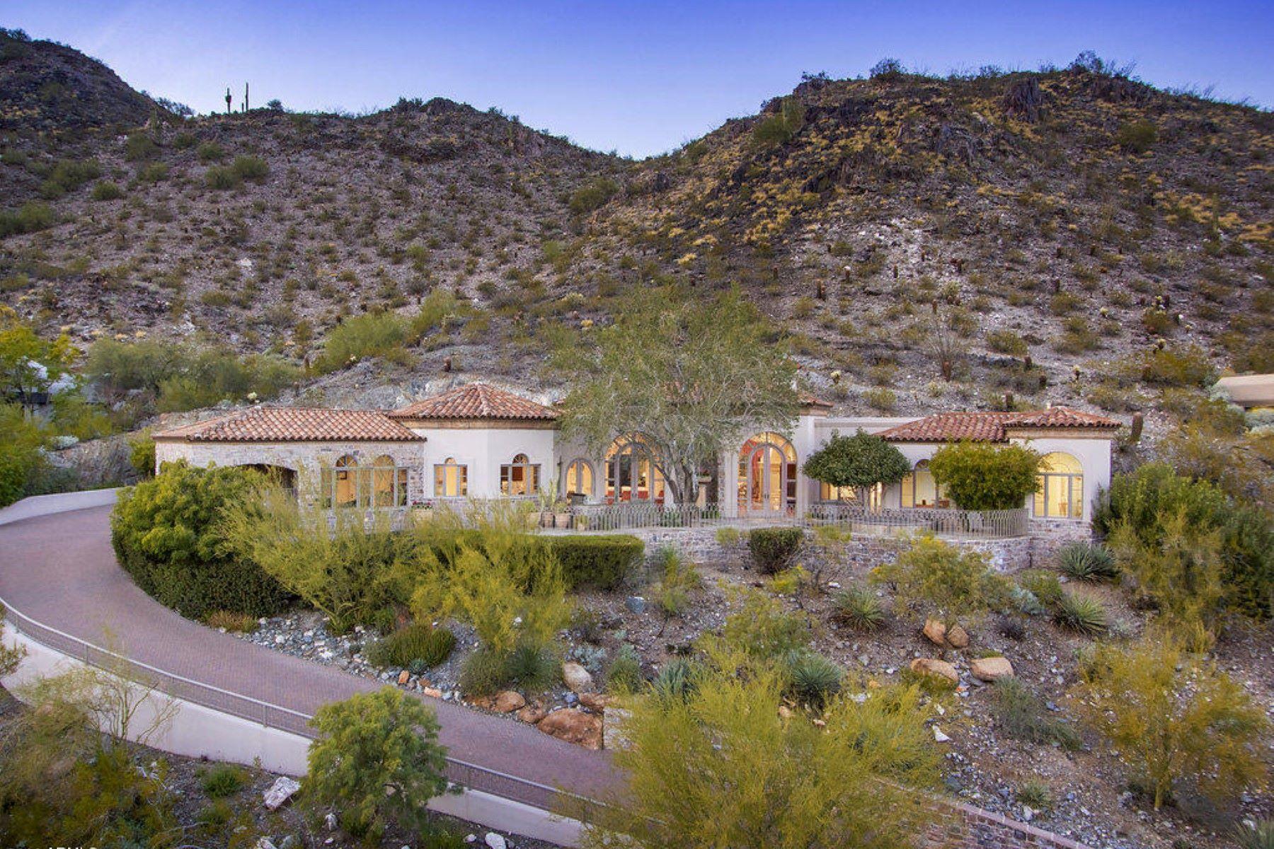 Tek Ailelik Ev için Satış at Custom Tatum Canyon European style home 4560 E Foothill Drive Paradise Valley, Arizona, 85253 Amerika Birleşik Devletleri