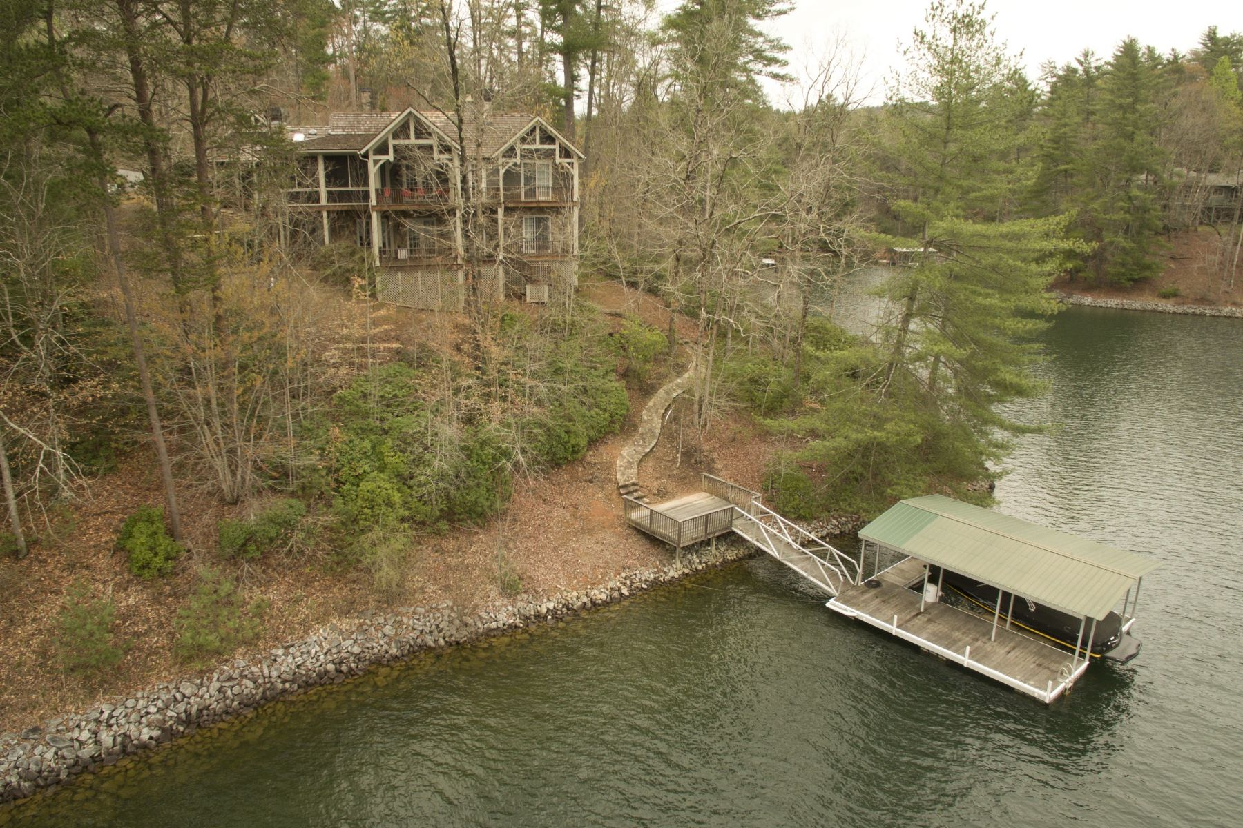Single Family Home for Sale at European Flavor Lake Home 121 Mist Flower Lane The Cliffs At Keowee Vineyards, Sunset, South Carolina, 29685 United States
