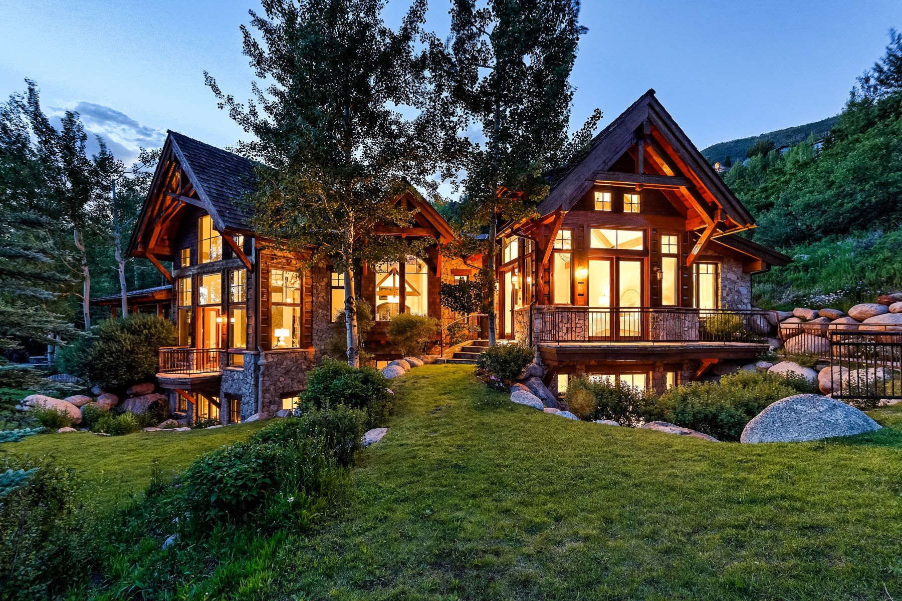 Single Family Home for Active at A Modernized Mountain Classic 27 Nighthawk Drive Aspen, Colorado 81611 United States