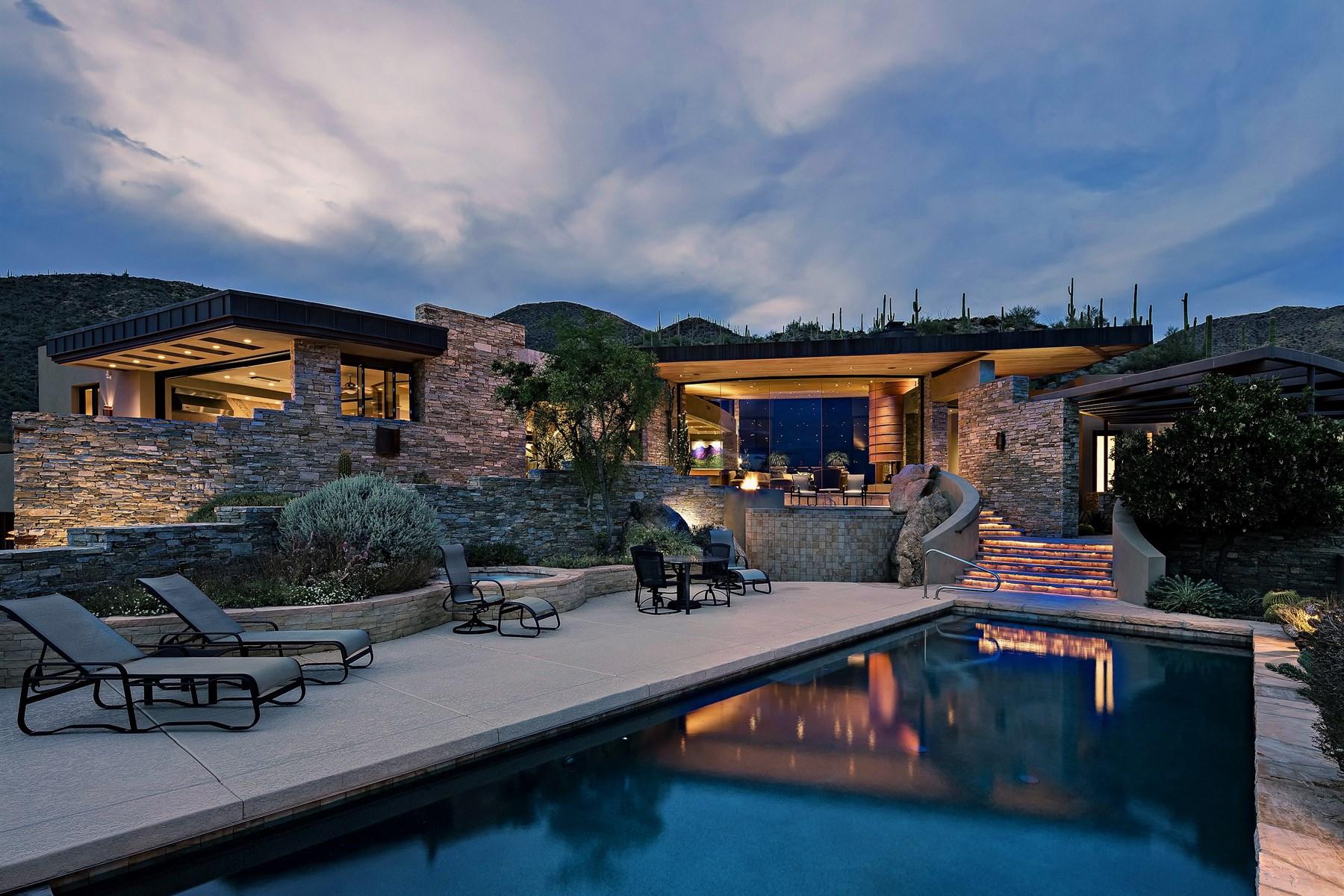 Einfamilienhaus für Verkauf beim Taliesin styled contemporary home perched at the top of Saguaro Forest. 10032 E Reflecting Mountain Way Scottsdale, Arizona, 85262 Vereinigte Staaten