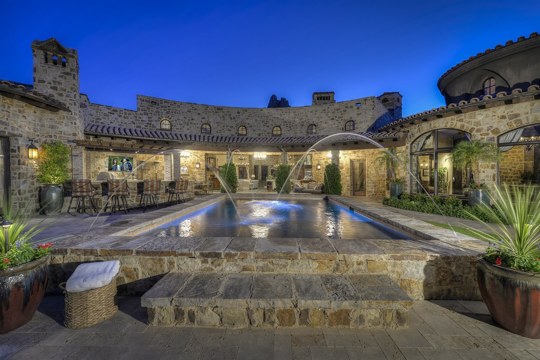 Single Family Home for Sale at Stunning world class estate in Estancia 10199 E Cavedale Drive Scottsdale, Arizona 85262 United States