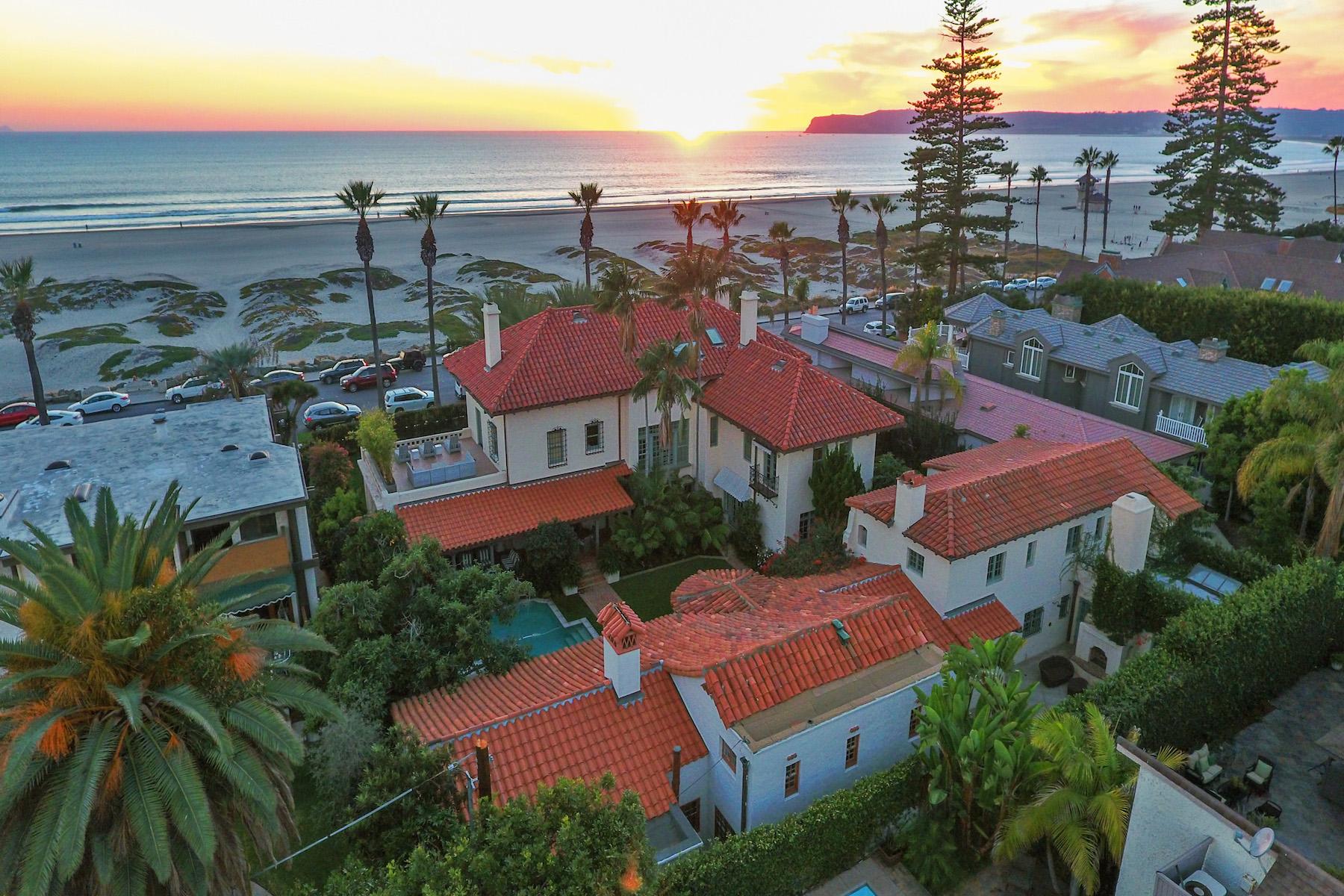 独户住宅 为 销售 在 1043 Ocean Boulevard 科罗纳多, 92118 美国