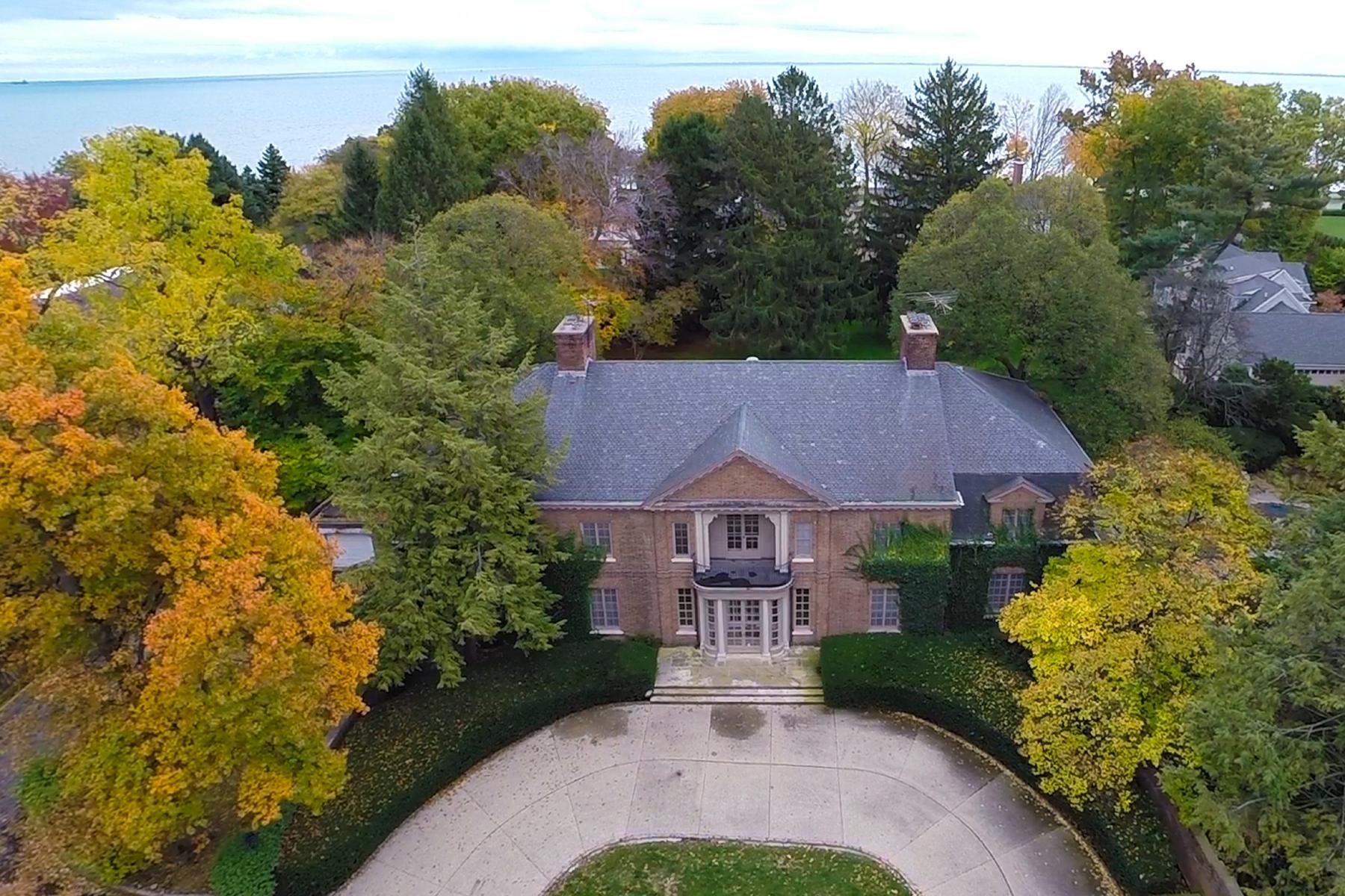 Частный односемейный дом для того Продажа на Grosse Pointe Farms 30 Preston Grosse Pointe Farms, Мичиган, 48236 Соединенные Штаты