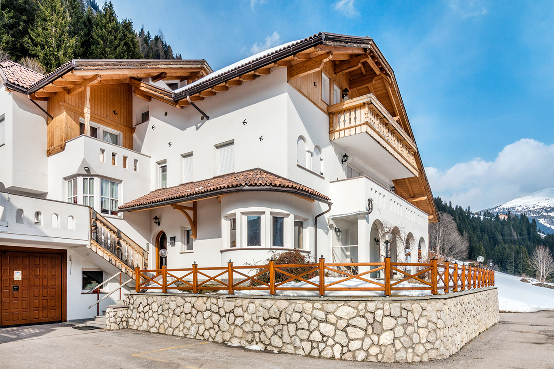 Single Family Home for Sale at New construction Villa by famous architect Hermann Kostner Via Alfauro Arabba, Belluno 32020 Italy
