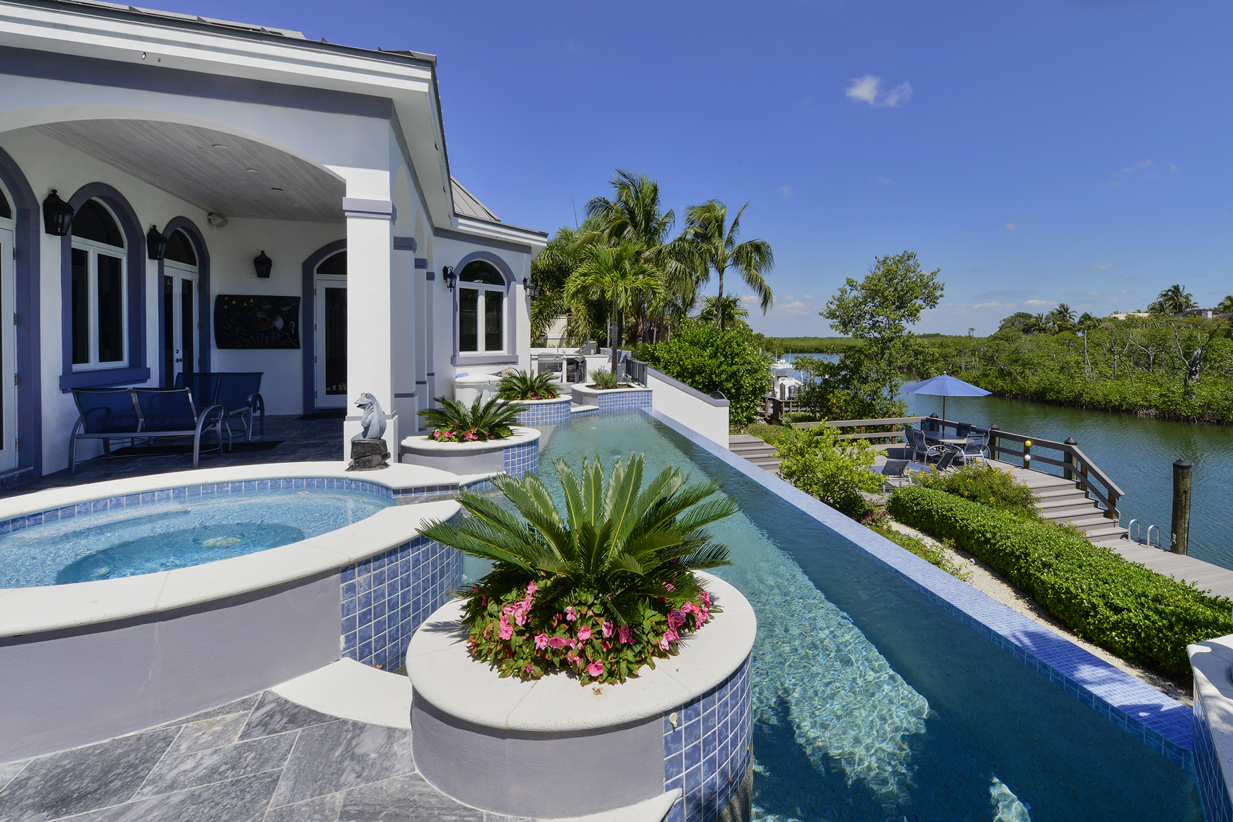 Single Family Home for Sale at Custom Built Waterfront Home at Ocean Reef 17 North Pelican Drive Key Largo, Florida 33037 United States