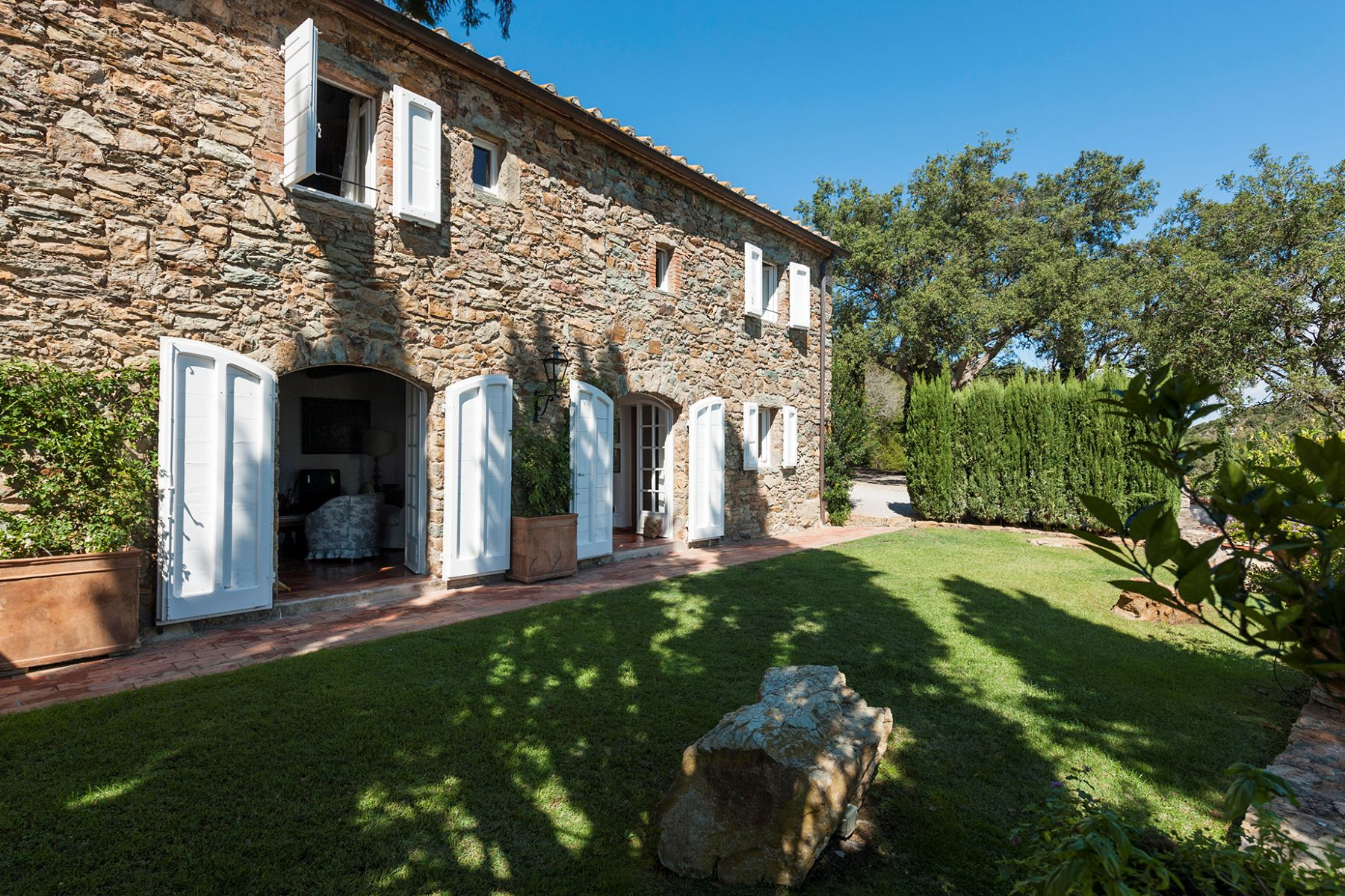Single Family Home for Sale at Wonderful stone villa in Monte Argentario Porto Ercole, Grosseto Italy