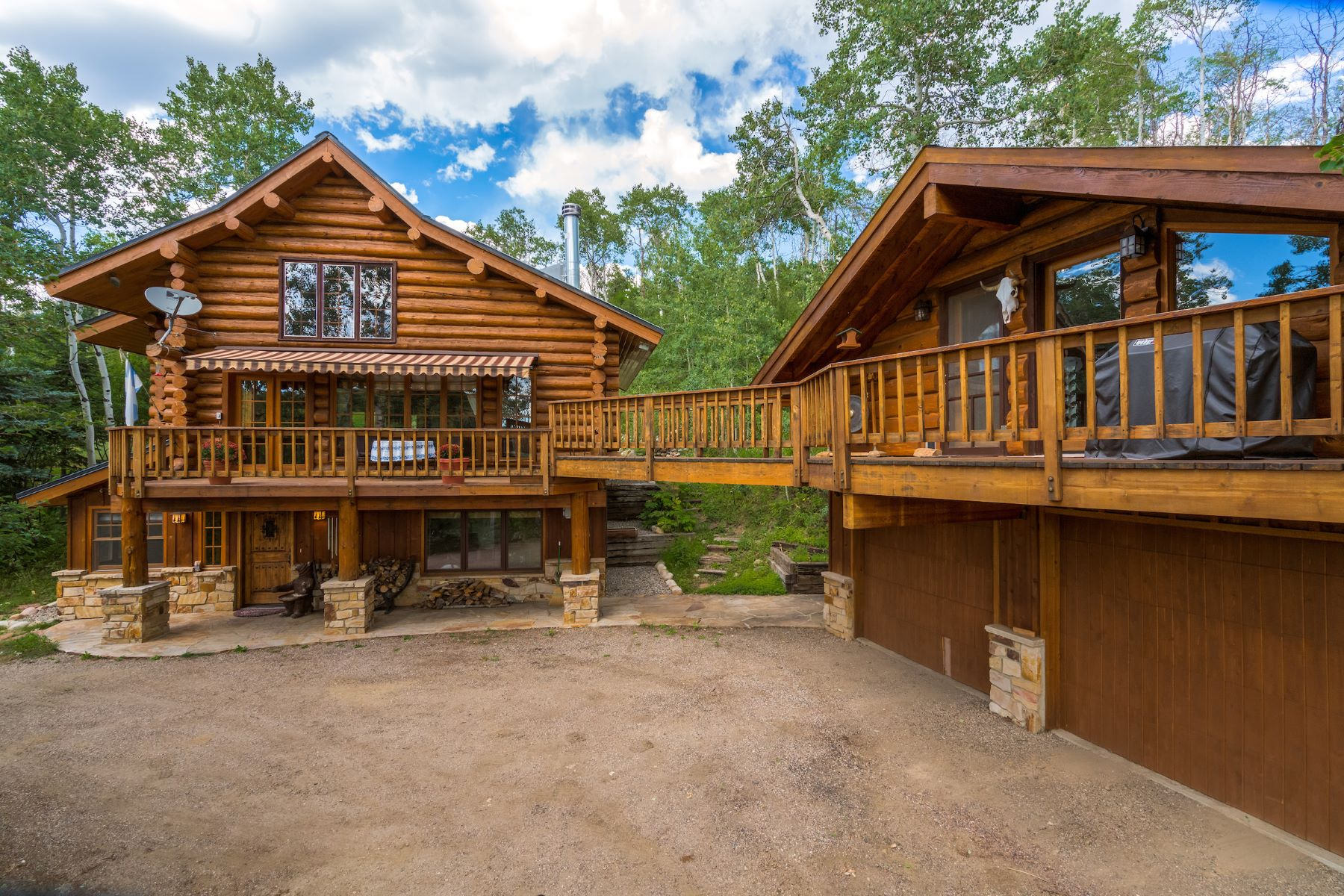 Maison unifamiliale pour l Vente à Whitewood Log Home 27875 Whitewood Dr E Steamboat Springs, Colorado 80487 États-Unis