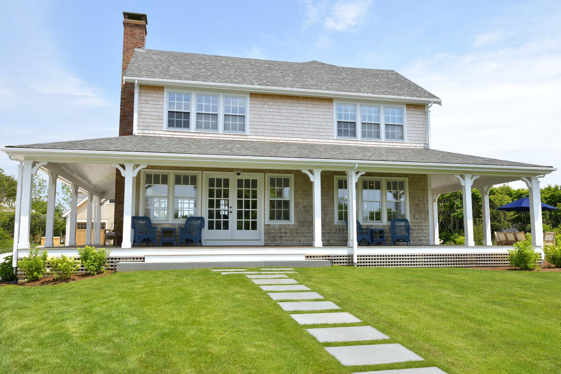 Частный односемейный дом для того Продажа на Classic and Charming Sconset 5 Stone Post Way Siasconset, Массачусетс, 02564 Соединенные Штаты