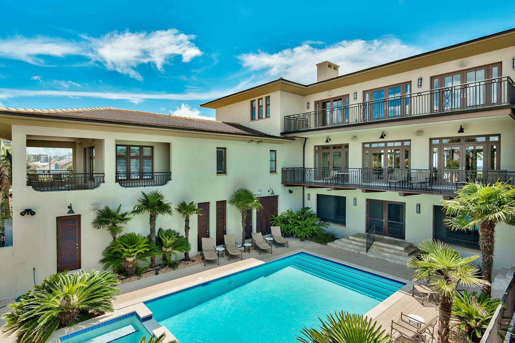 獨棟家庭住宅 為 出售 在 CANAL FRONT HOLIDAY ISLE RETREAT 627 Gulf Shore Drive Destin, 佛羅里達州, 32541 美國