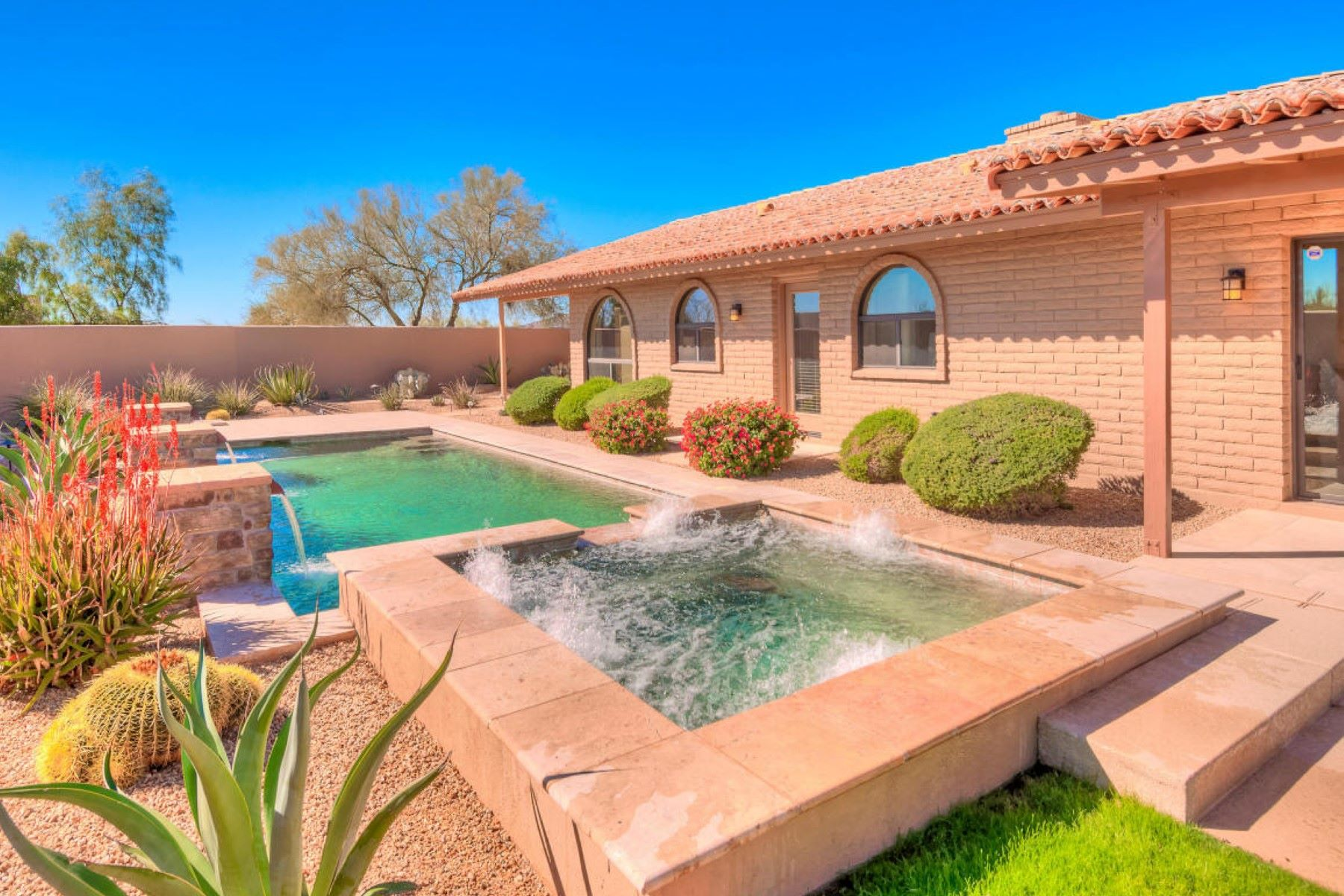 Single Family Home for Sale at Stunning Custom Slump Block Estate 8901 E Cave Creek RD Carefree, Arizona, 85377 United States